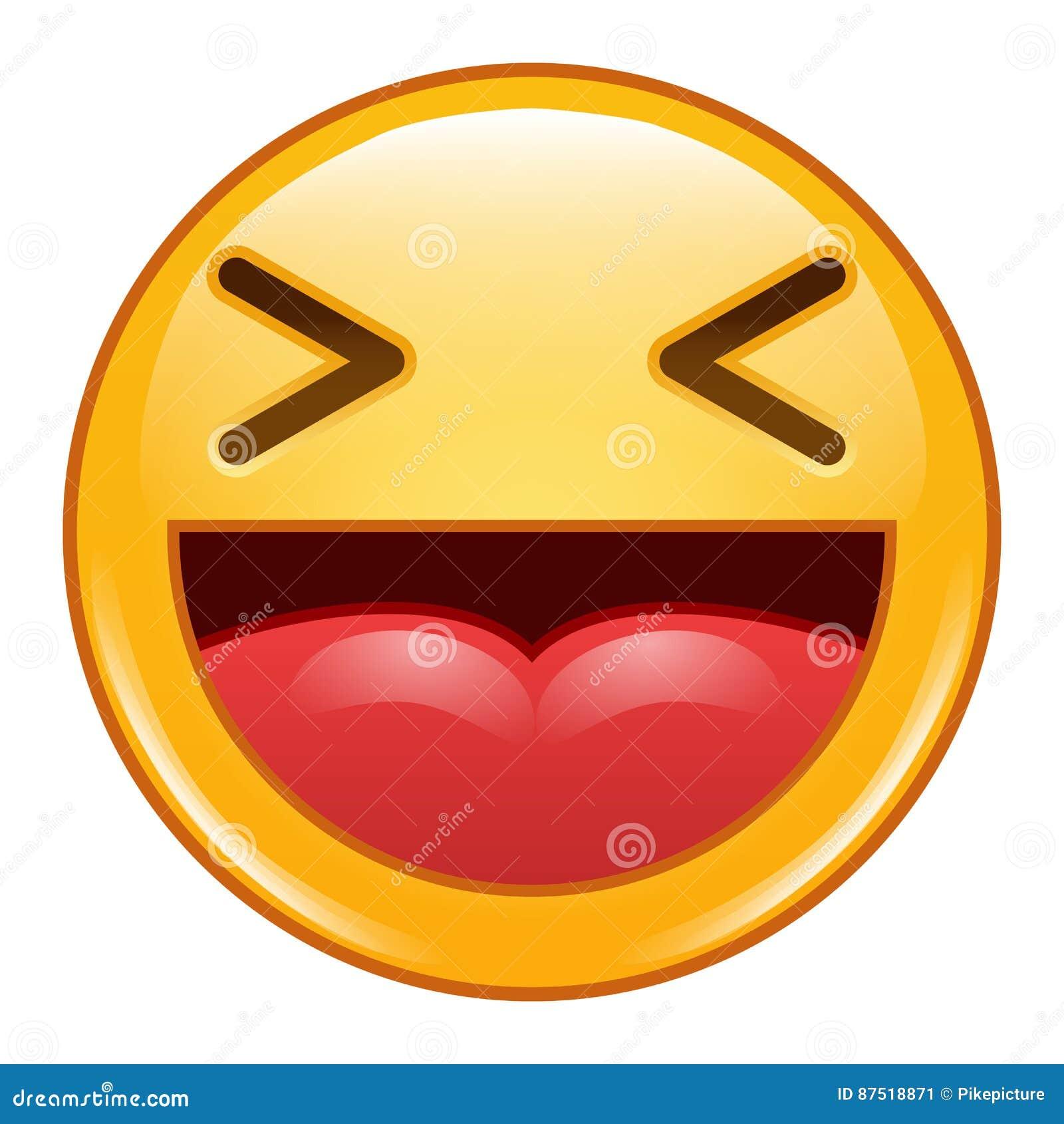 emoji emoticon icon vector smiley laughing emoticons stock vector
