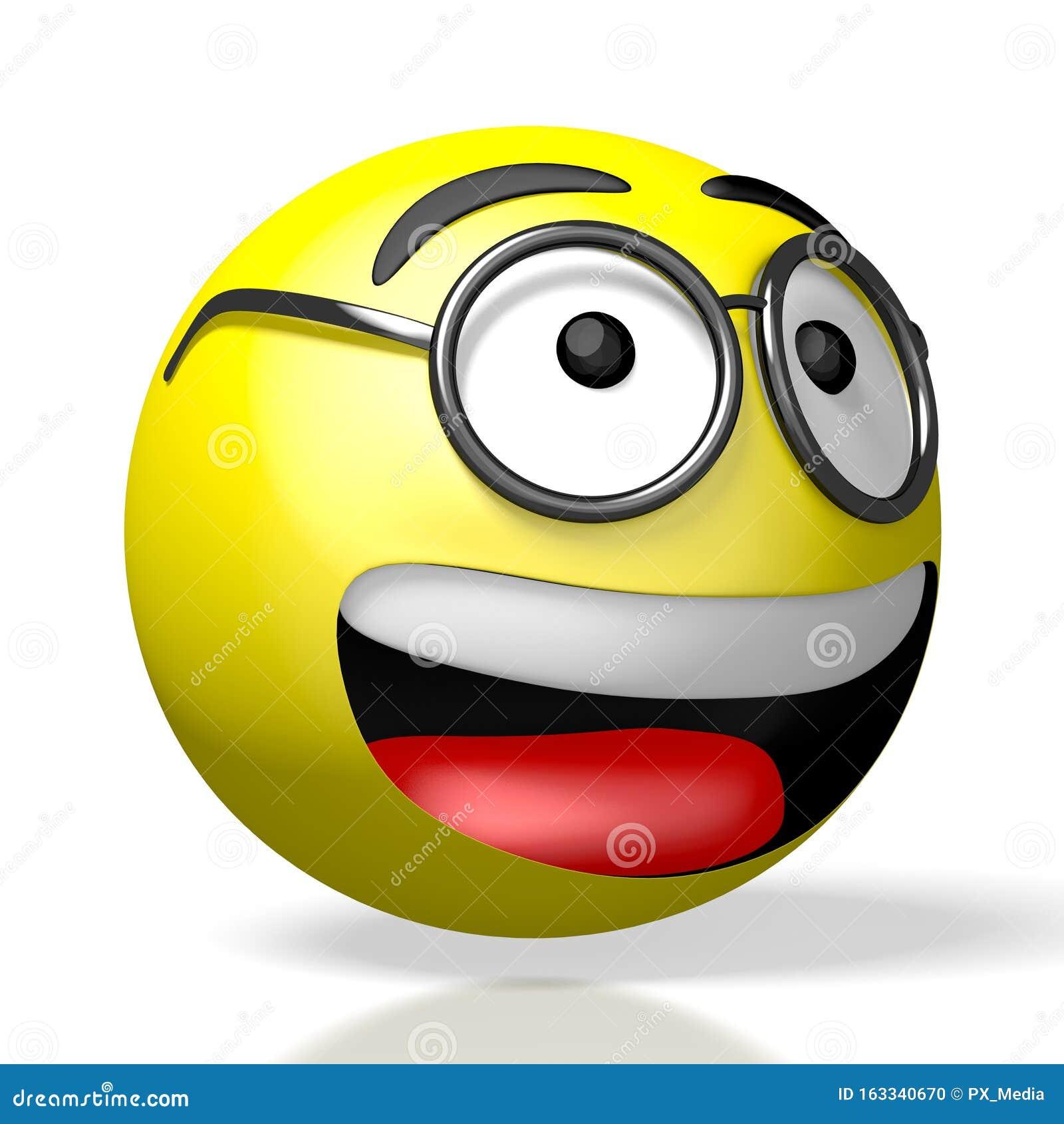 Emoji/ Emoticon - Wearing Glasses/ Nerd - 3D Rendering ...