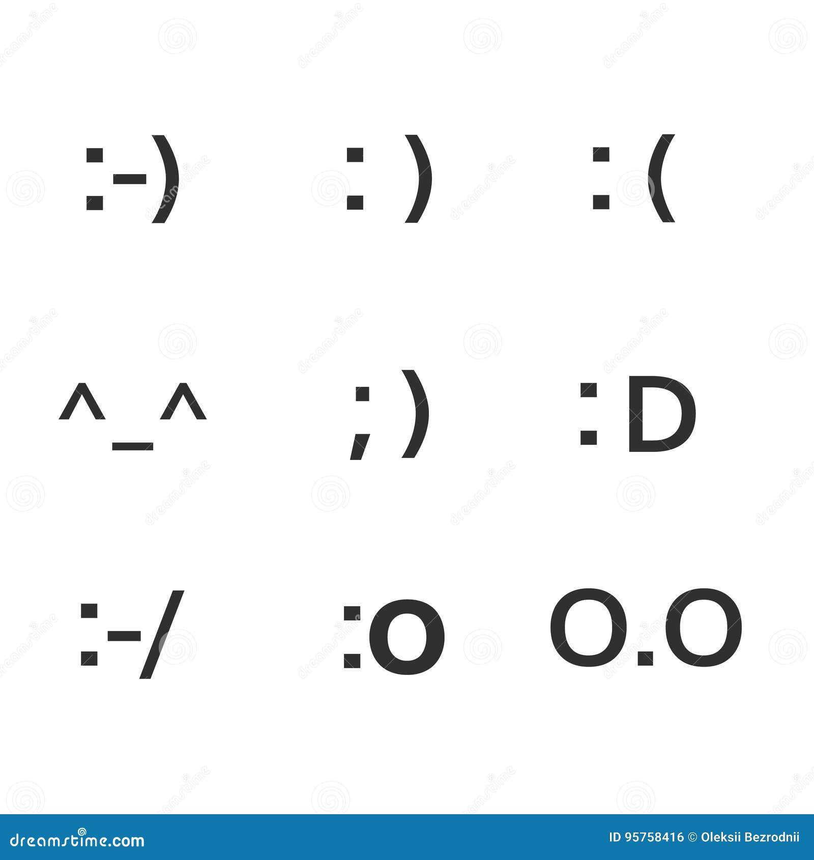 Emoji faces keyboard symbols smile symbols stock vector emoji faces keyboard symbols smile symbols biocorpaavc