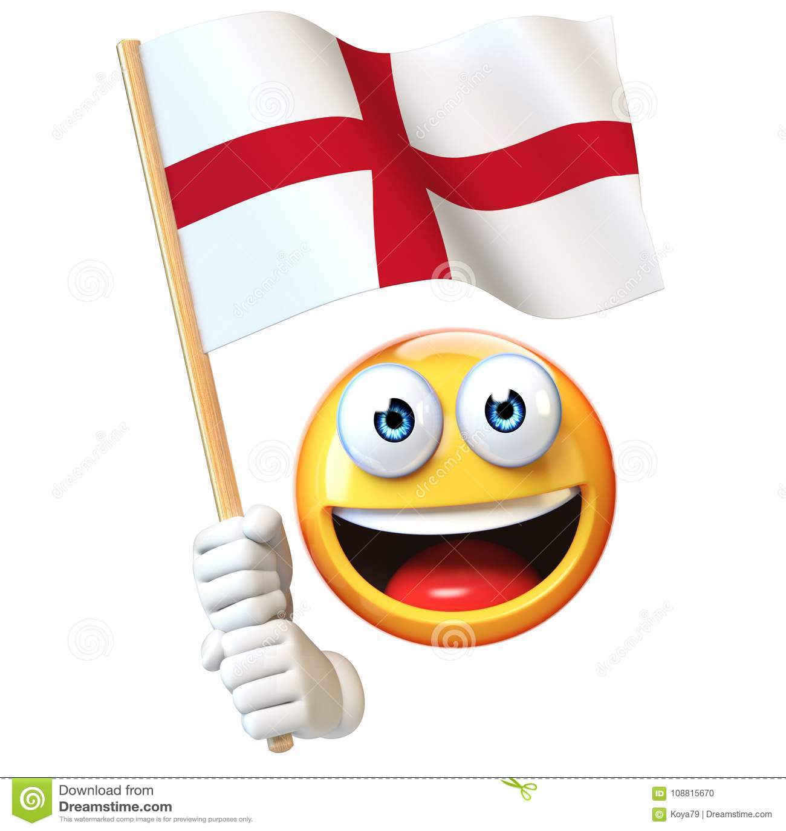 Emoji Holding England Flag Emoticon Waving National Flag Of England