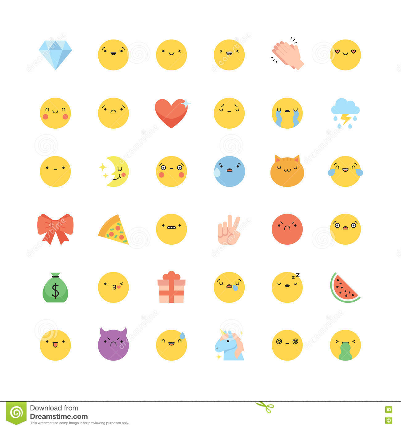 Set emoticons emoji stock photos download 10 images emoji icon vector set flat cute korean style isolated emoticons and symbols royalty free biocorpaavc Image collections