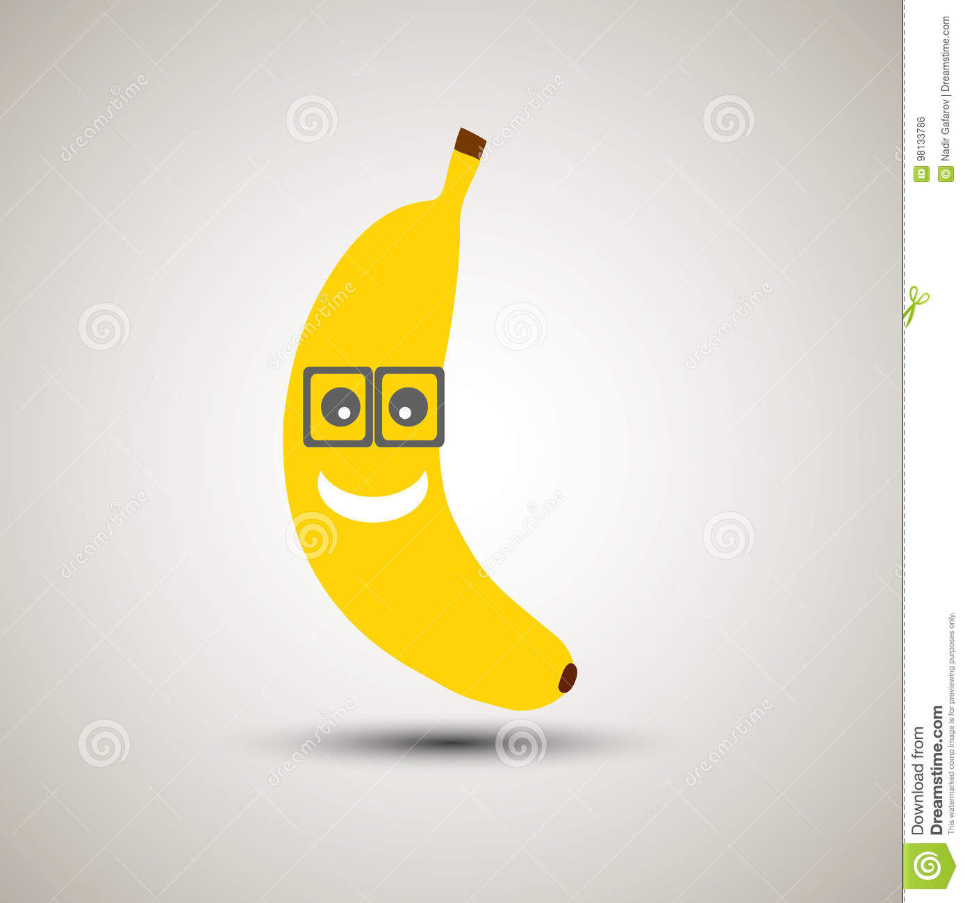 Emoji Jaune De Banane Dans Des Lunettes Emoticone Pour Des Apps Interdiction Jaune Illustration De Vecteur Illustration Du Lunettes Emoticone 98133786