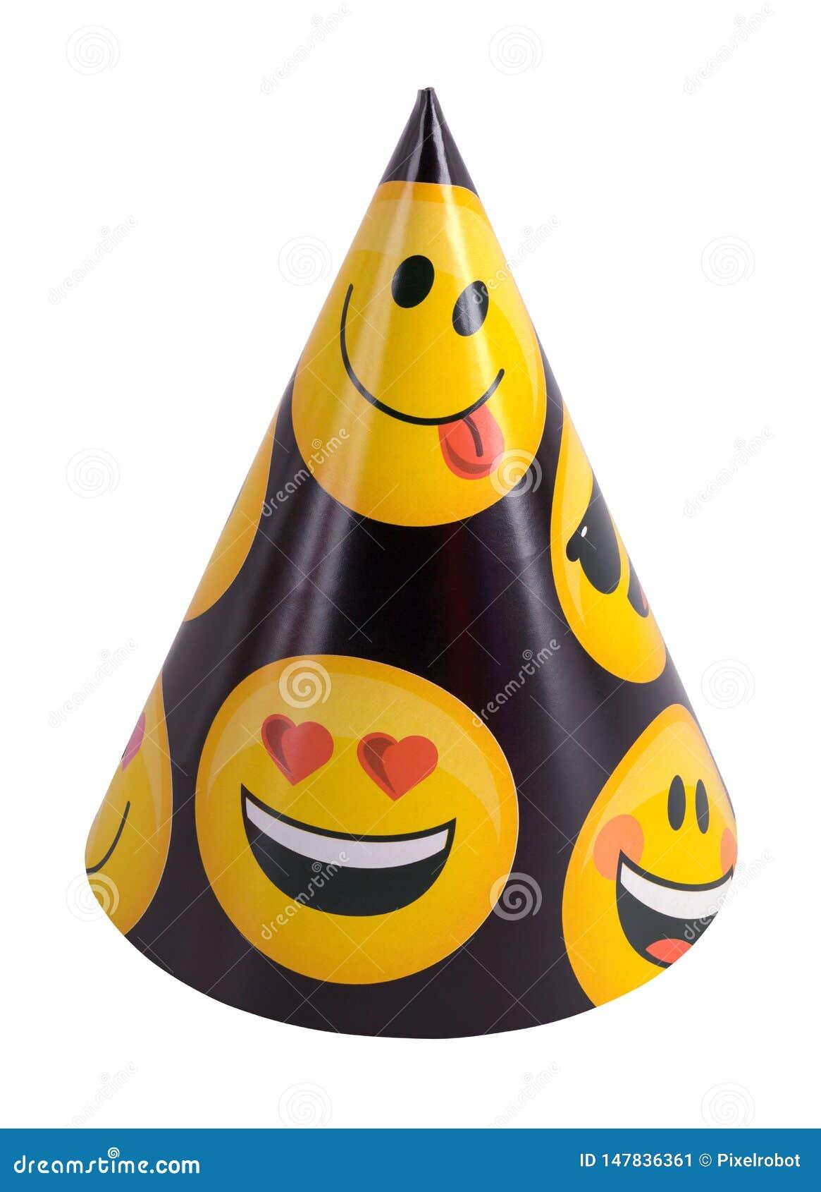 Emoji Party Hat stock image  Image of party, retro, cone
