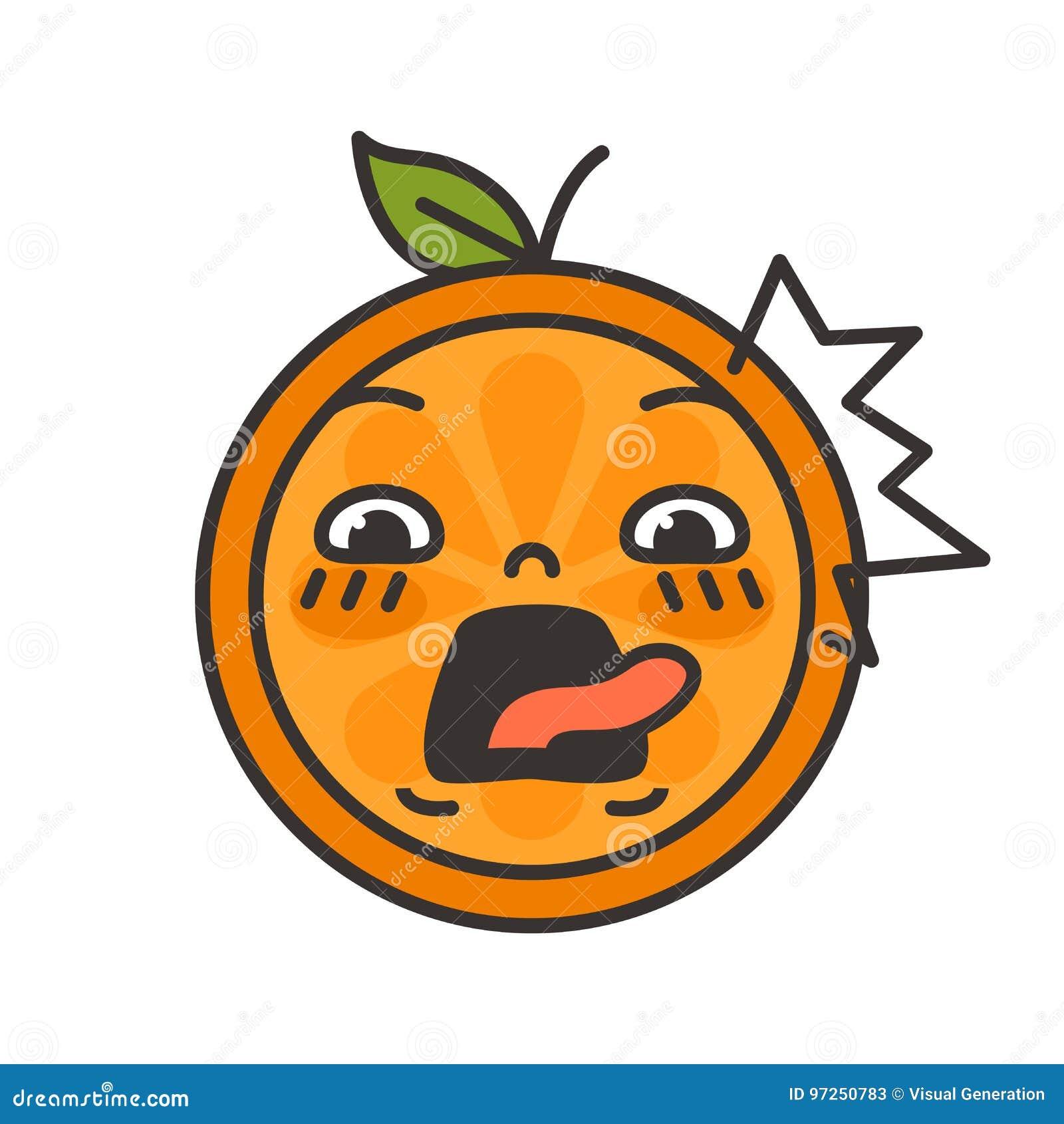 Emoji - schreeuw oranje glimlach Geïsoleerdee vector