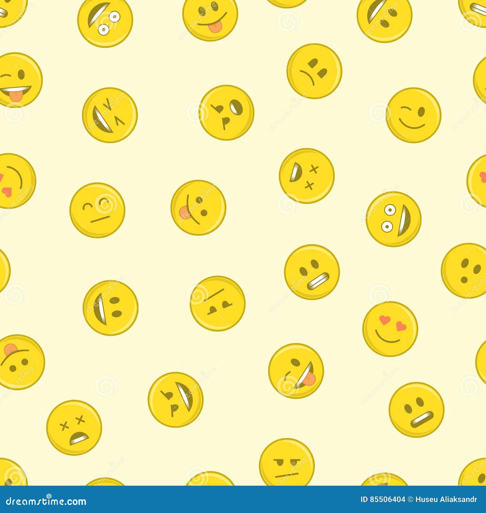 emoji seamless pattern  stock vector  illustration of