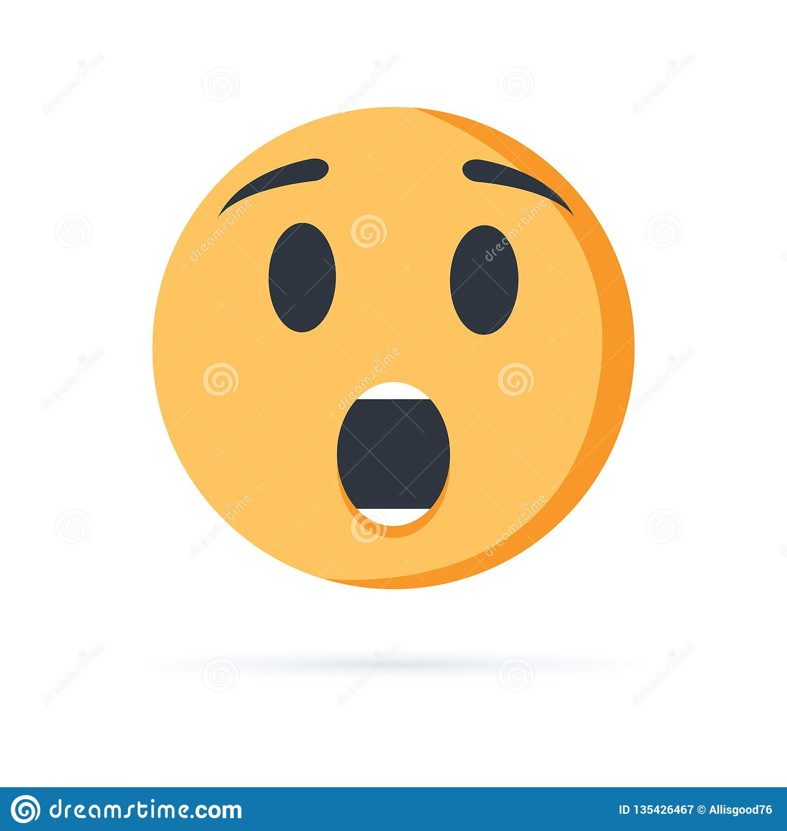 Emoji Surprise Face Vector Isolated On White Background  Emoji Face