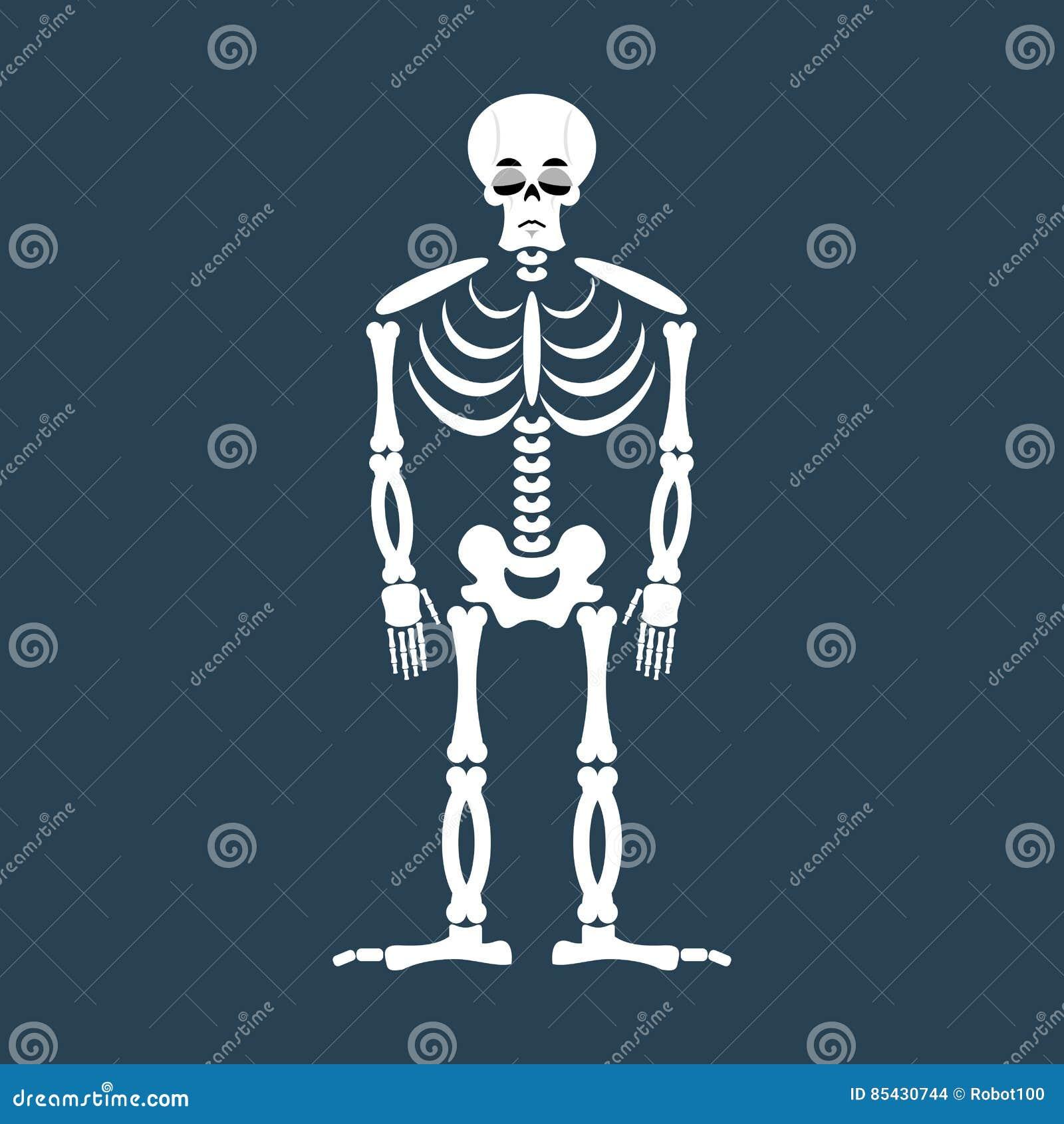 Emoji Triste Esquelético Tristeza De La Emoción Del Cráneo Huesos ...