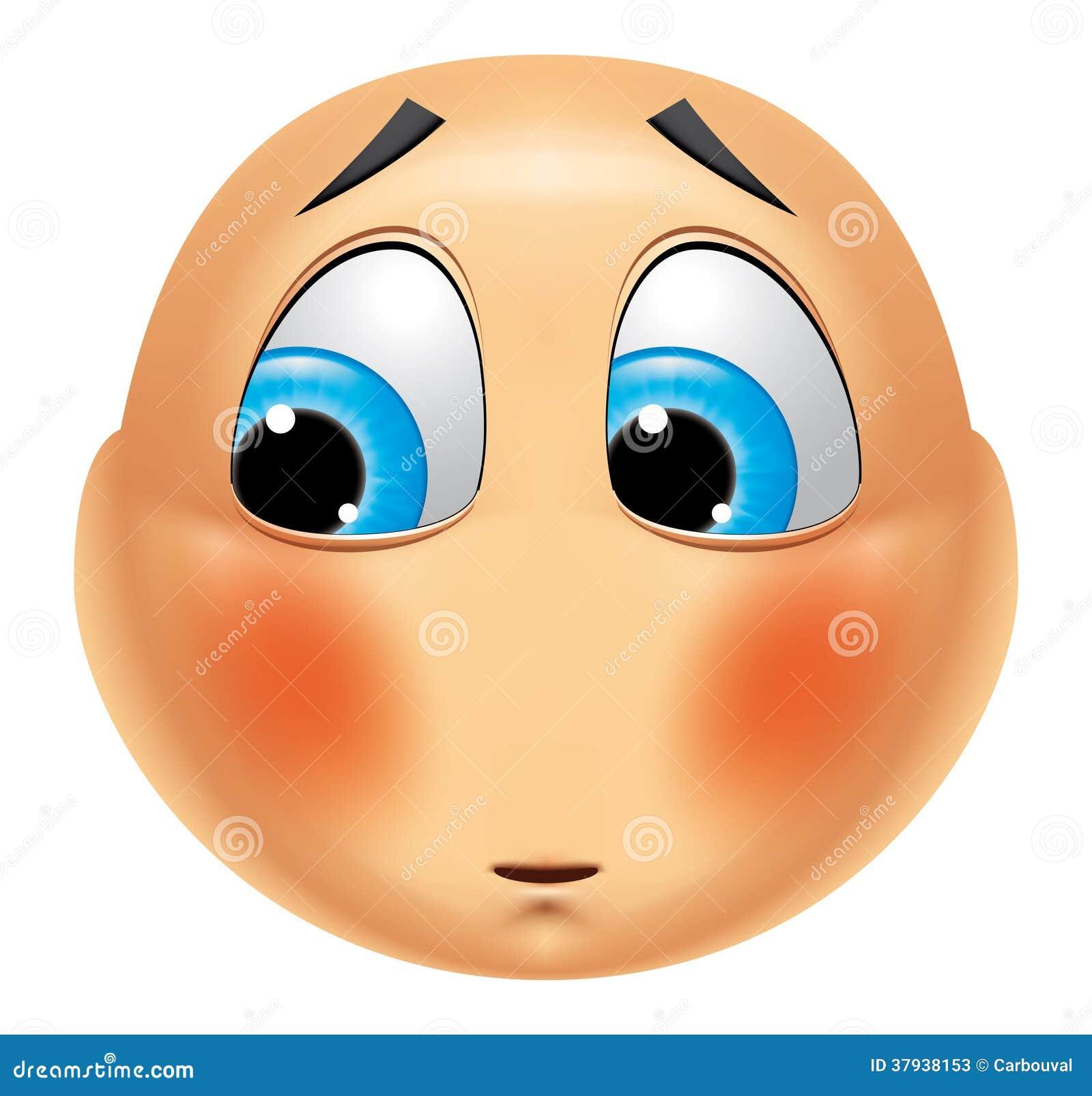 Emoticon Ashamed Stock Photos - Image: 37938153