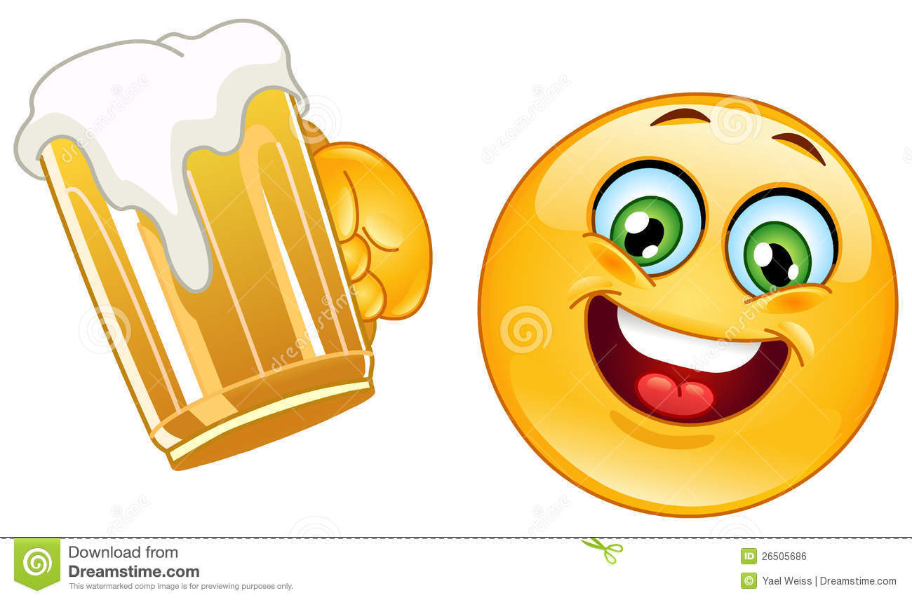 Emoticon With Beer Royalty Free Stock Image - Image: 26505686