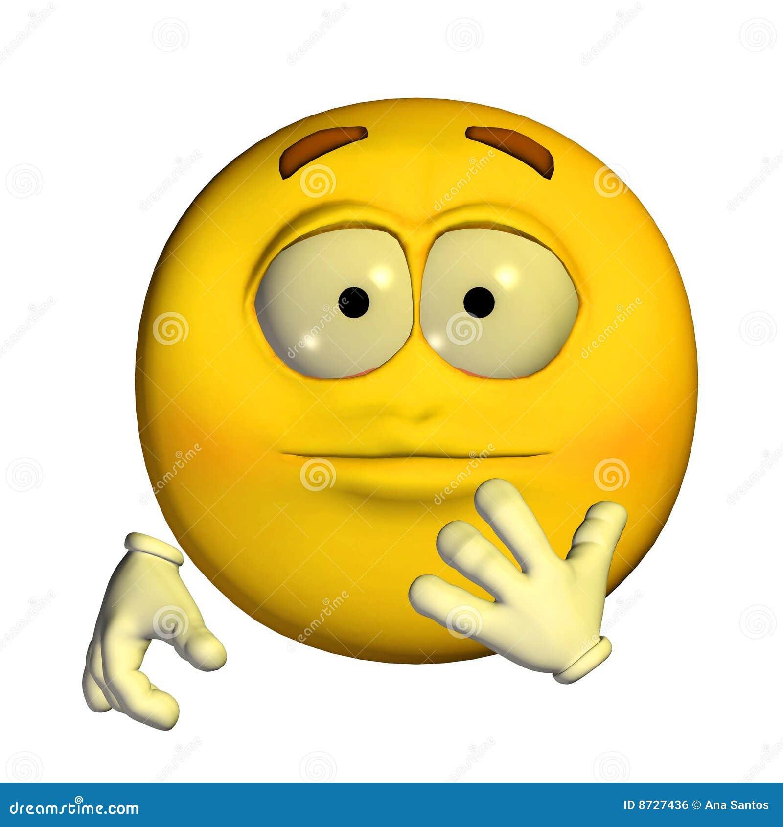 Emoticon berrascht Lizenzfreies Stockbild Bild 8727436