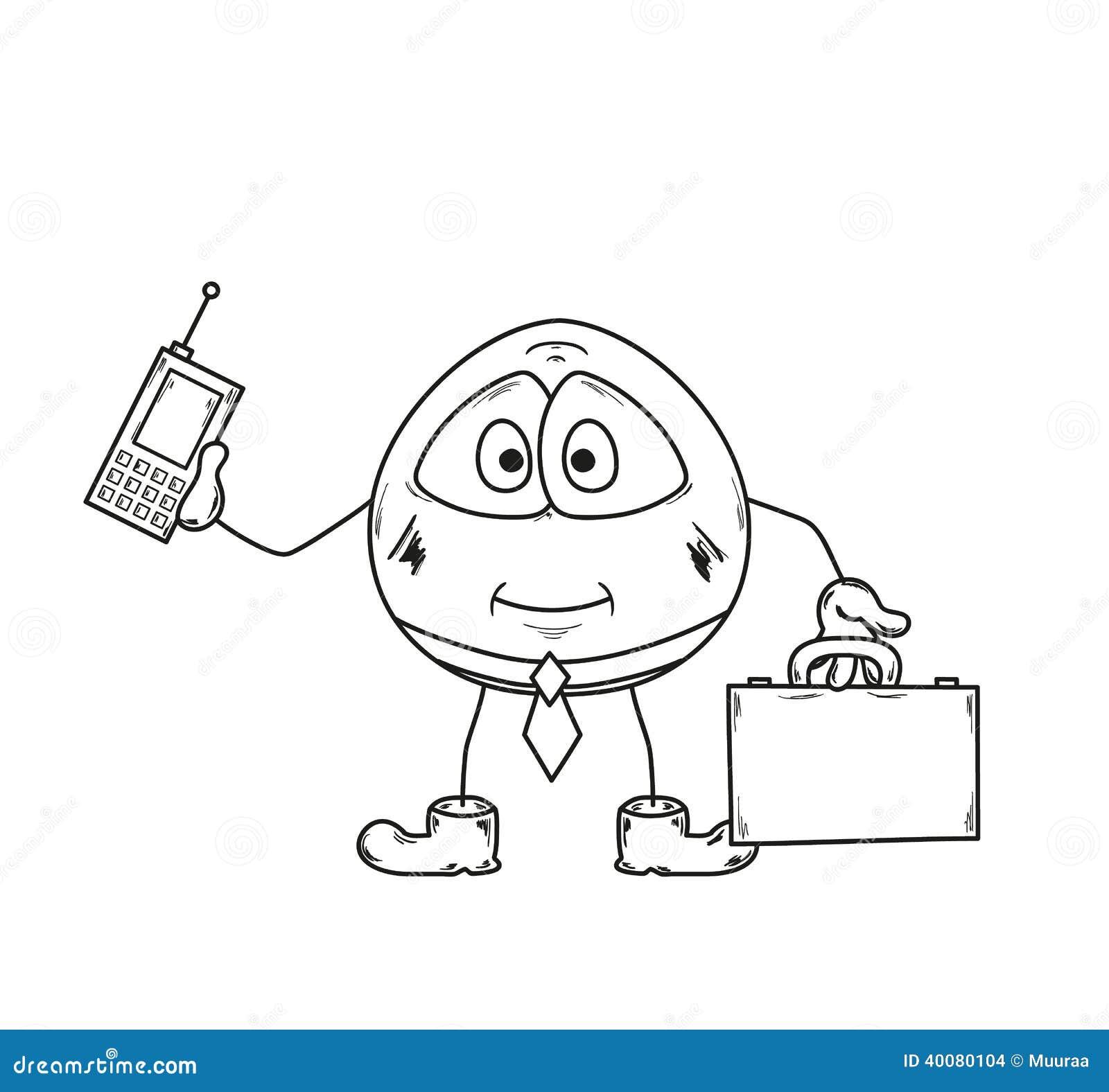 Emoticon Businessman Sketch Stock Illustration Image