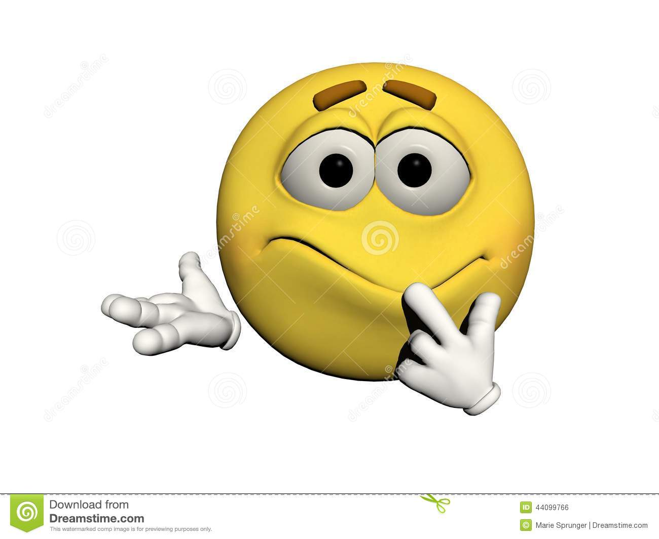 Emoticon Confused Stock Illustration - Image: 44099766