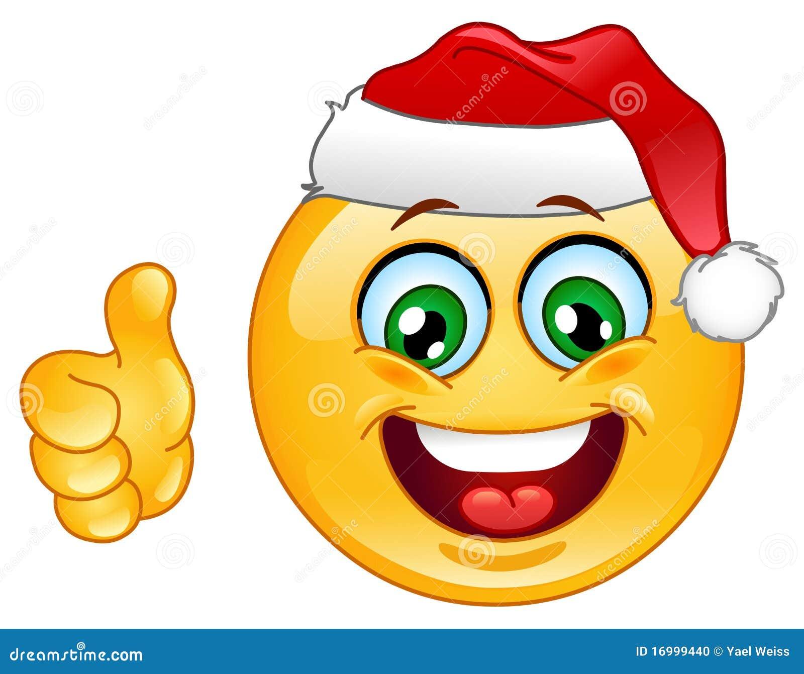 Emoticon de la Navidad