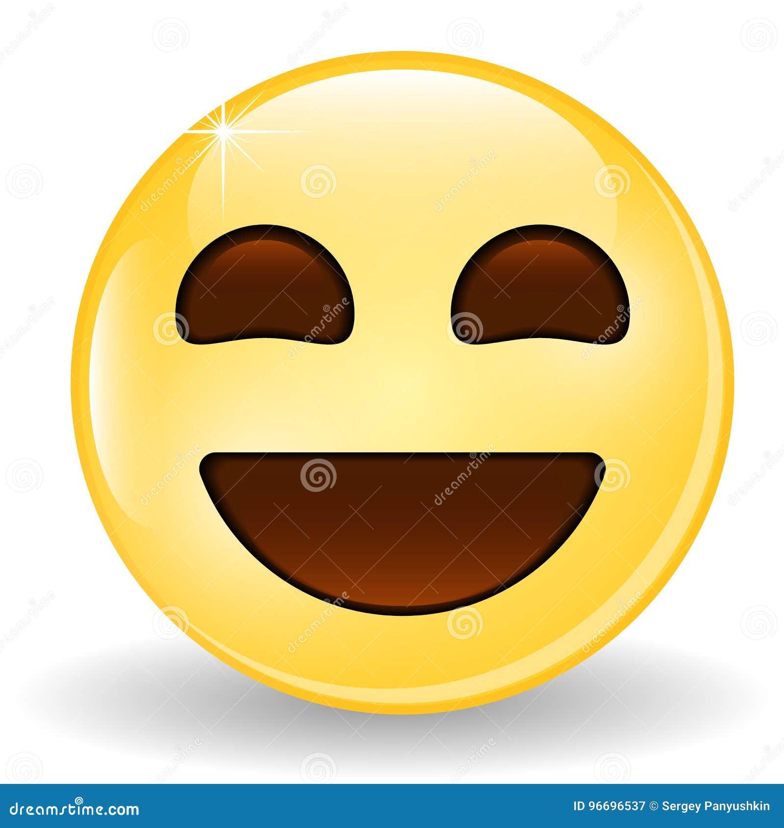 Emoticon De Risa Emoji Sonriente Icono Del Emoticon Ilustración Del