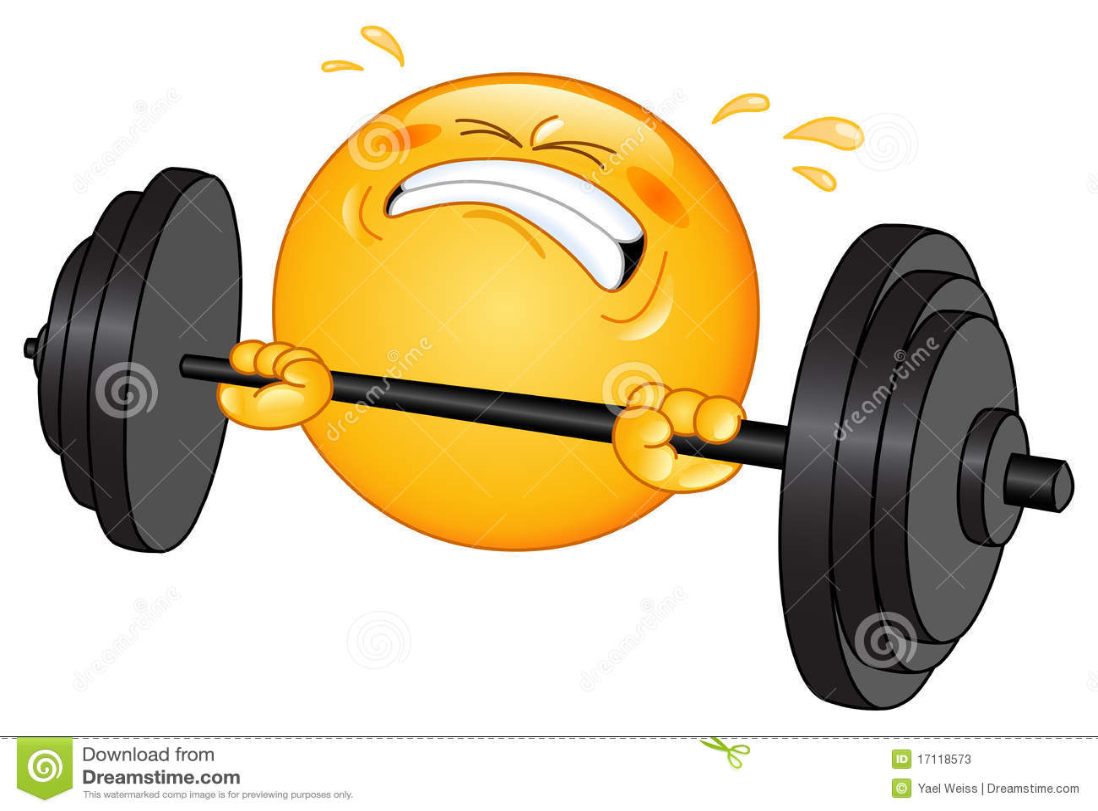 Emoticon del Weightlifter