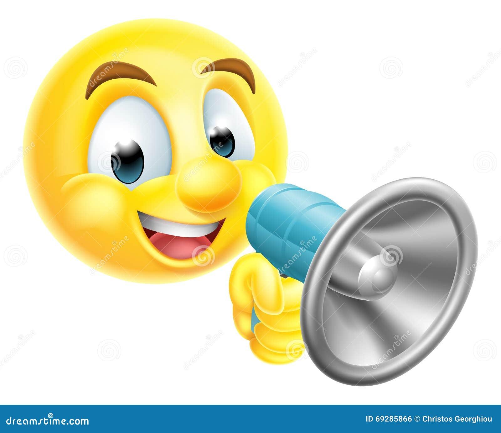 Emoticon Emoji que sostiene el teléfono mega