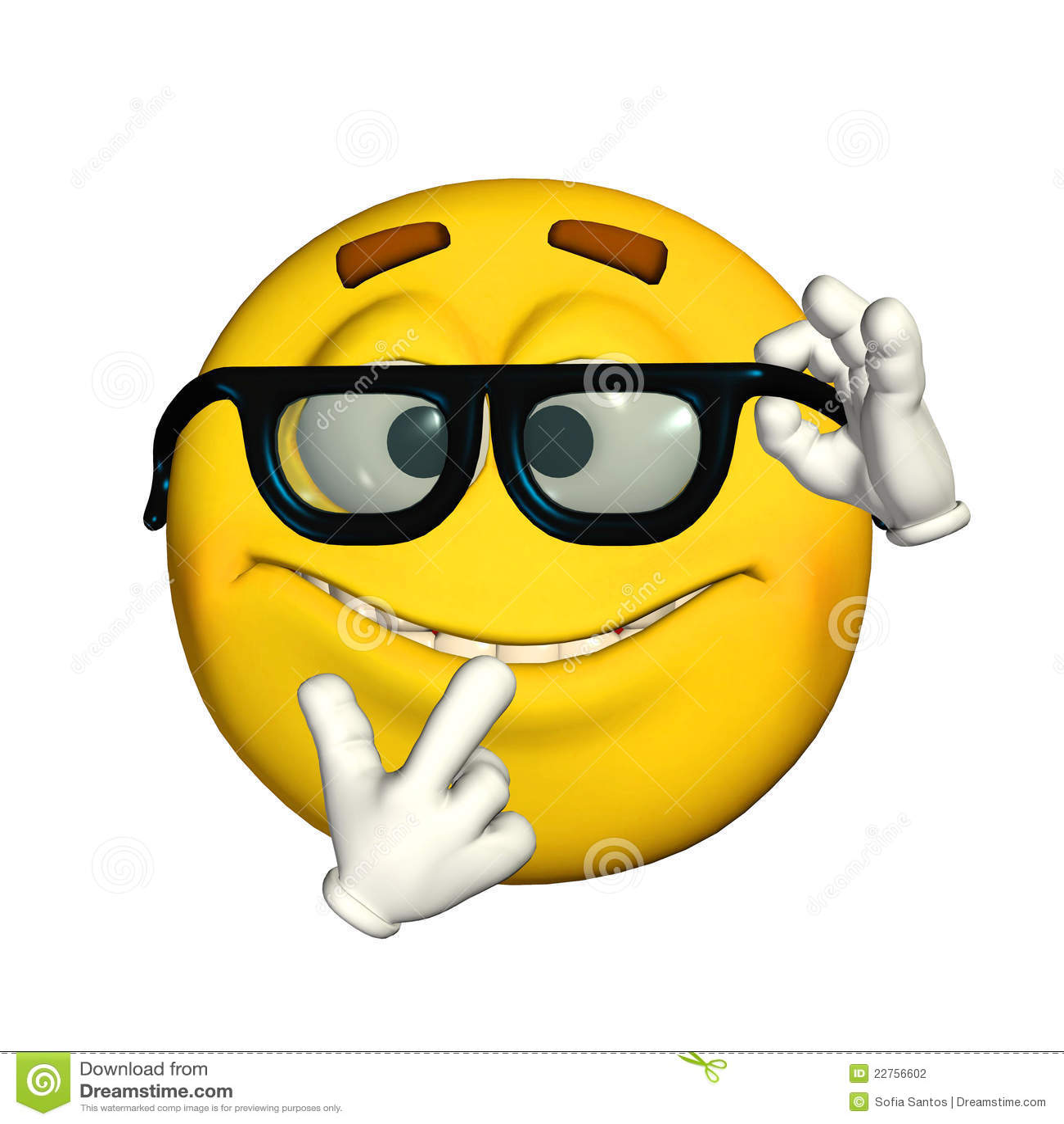Geek Or Nerd Emoticon Stock Vector - Image: 58328875
