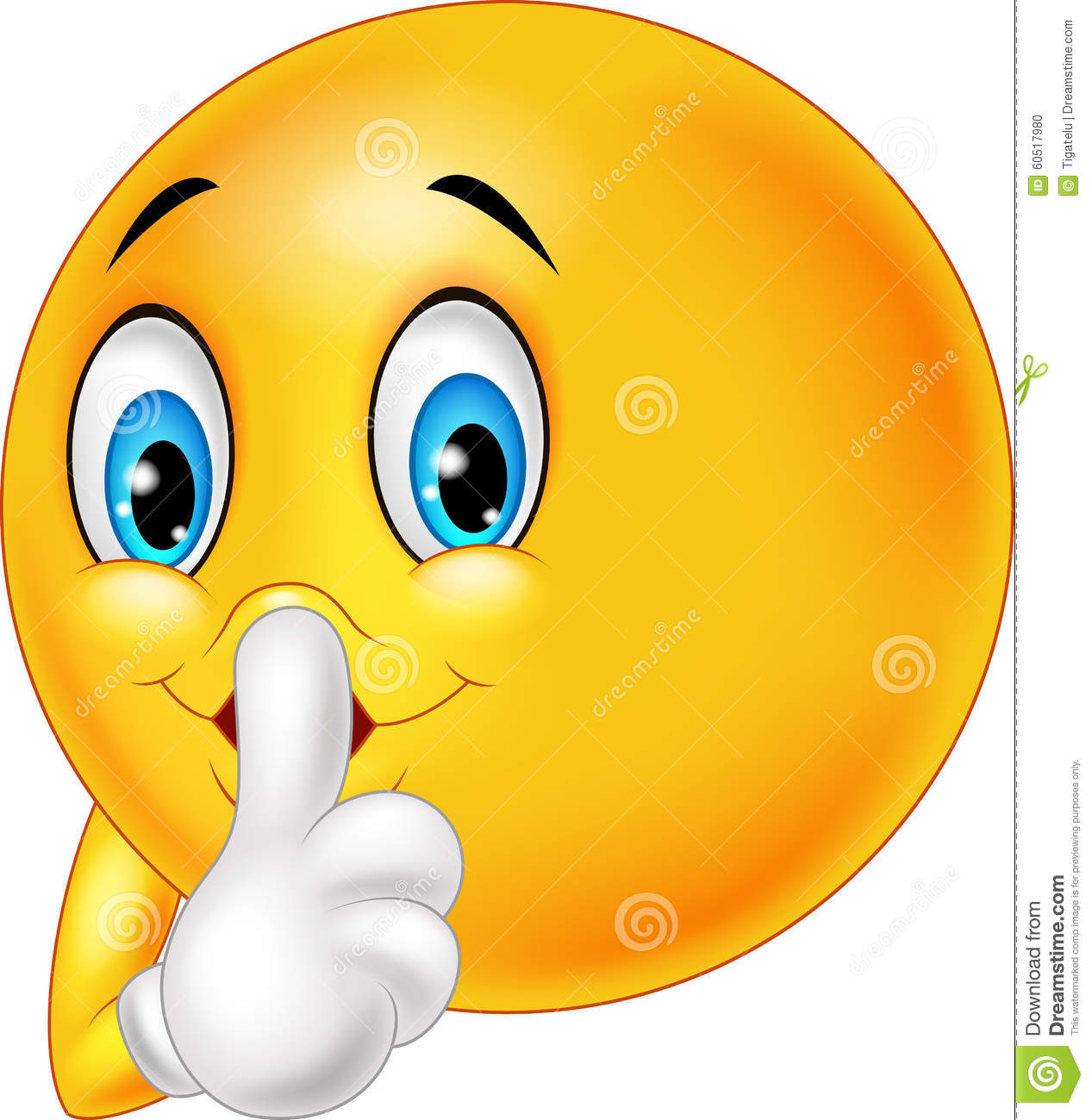 emoticon happy making silence sign stock illustration image 60517980 vector facelift vector facts