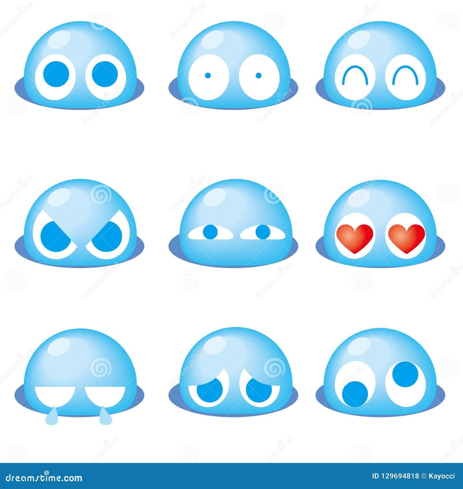 Emoticon lindo 9set - azul