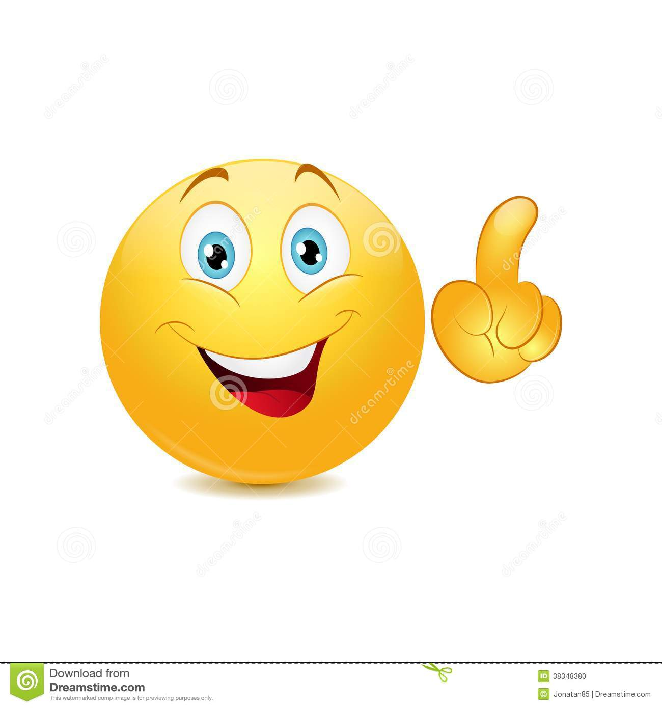 Emoticon Making A Point Stock Image