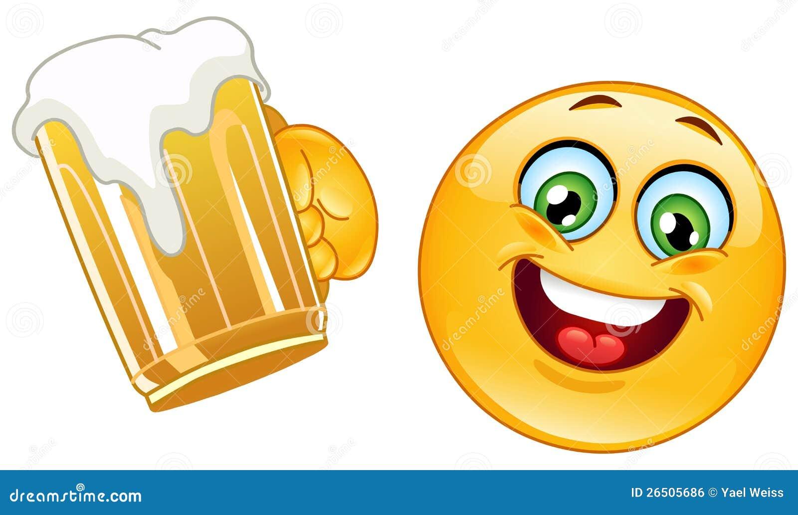 Emoticon mit Bier