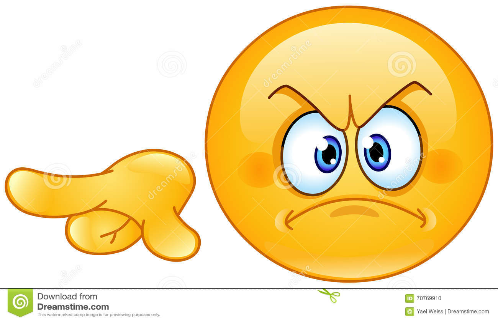 Emoticon precisante arrabbiato illustrazione vettoriale for Immagini vector