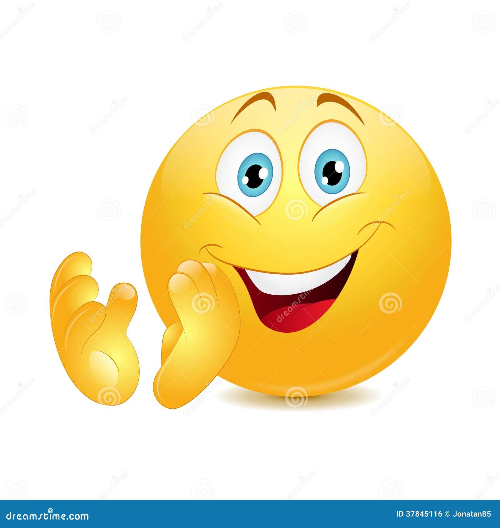 Pster Smiley de dibujos animados emoticon con el pulgar