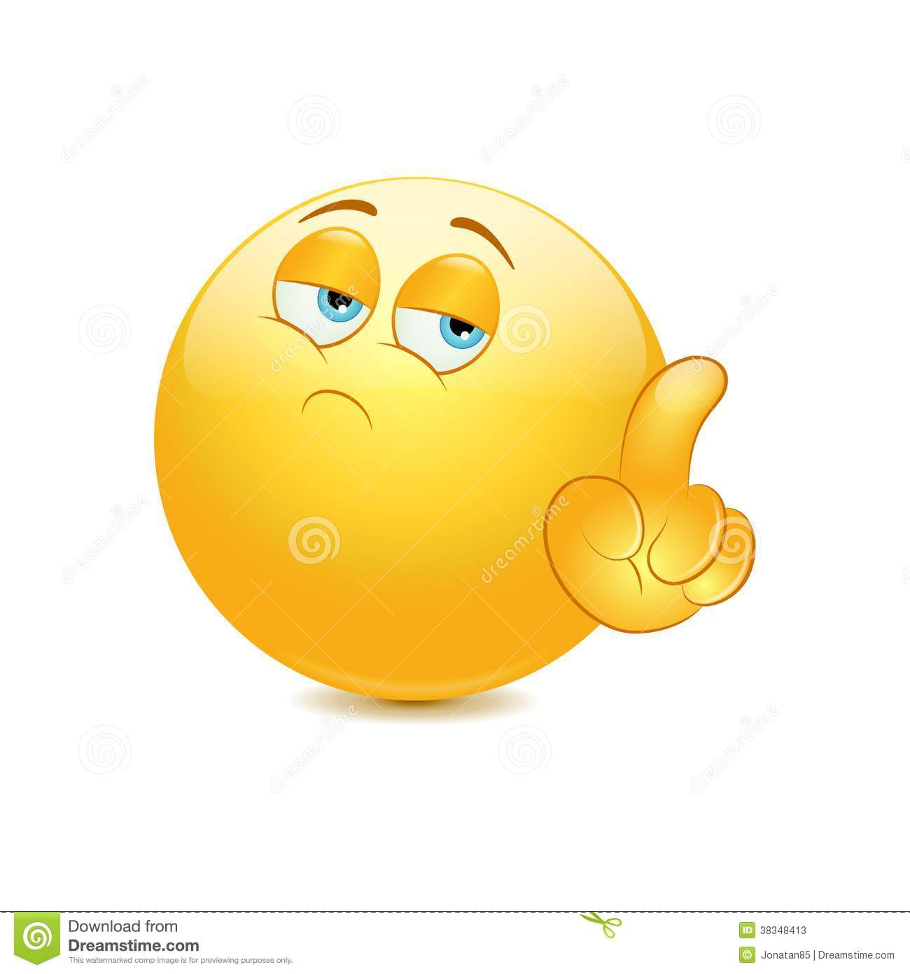 Emoticon Saying No With His Finger Stock Vector - Image ...