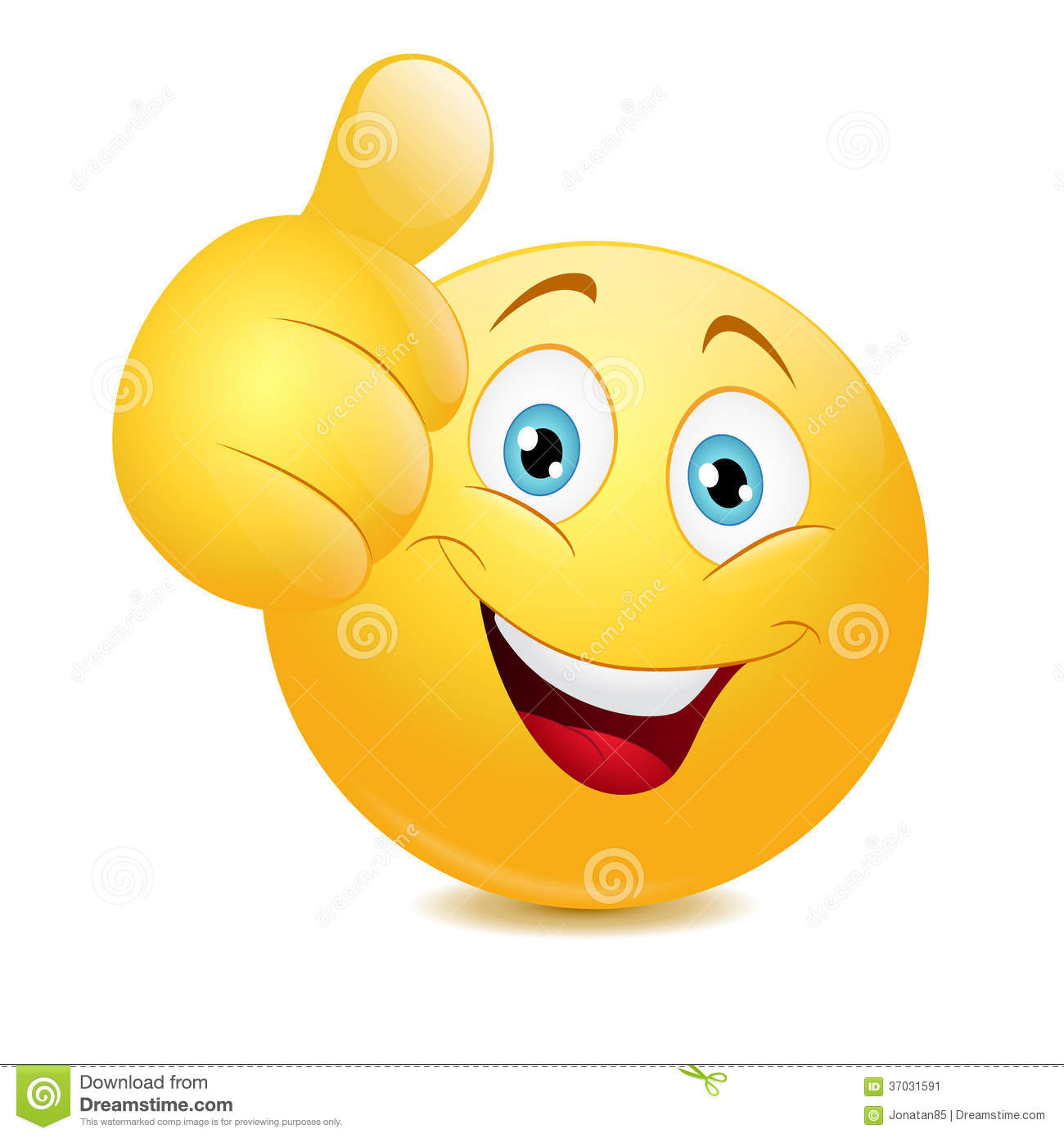Emoticon Showing Thumb Up Stock Image - Image: 37031591