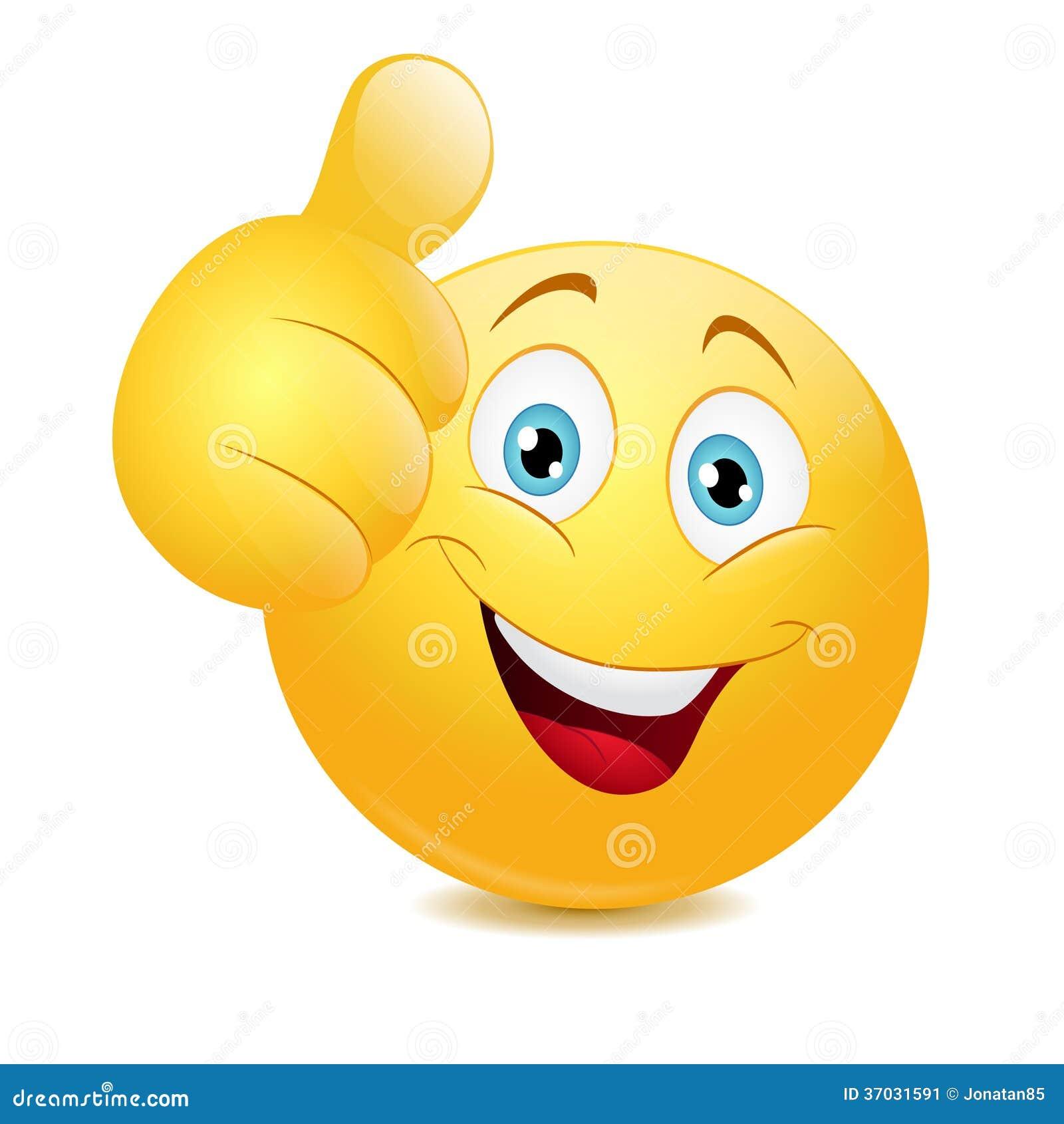 Emoticon Showing Thumb Up Stock Image - Image: 37031591