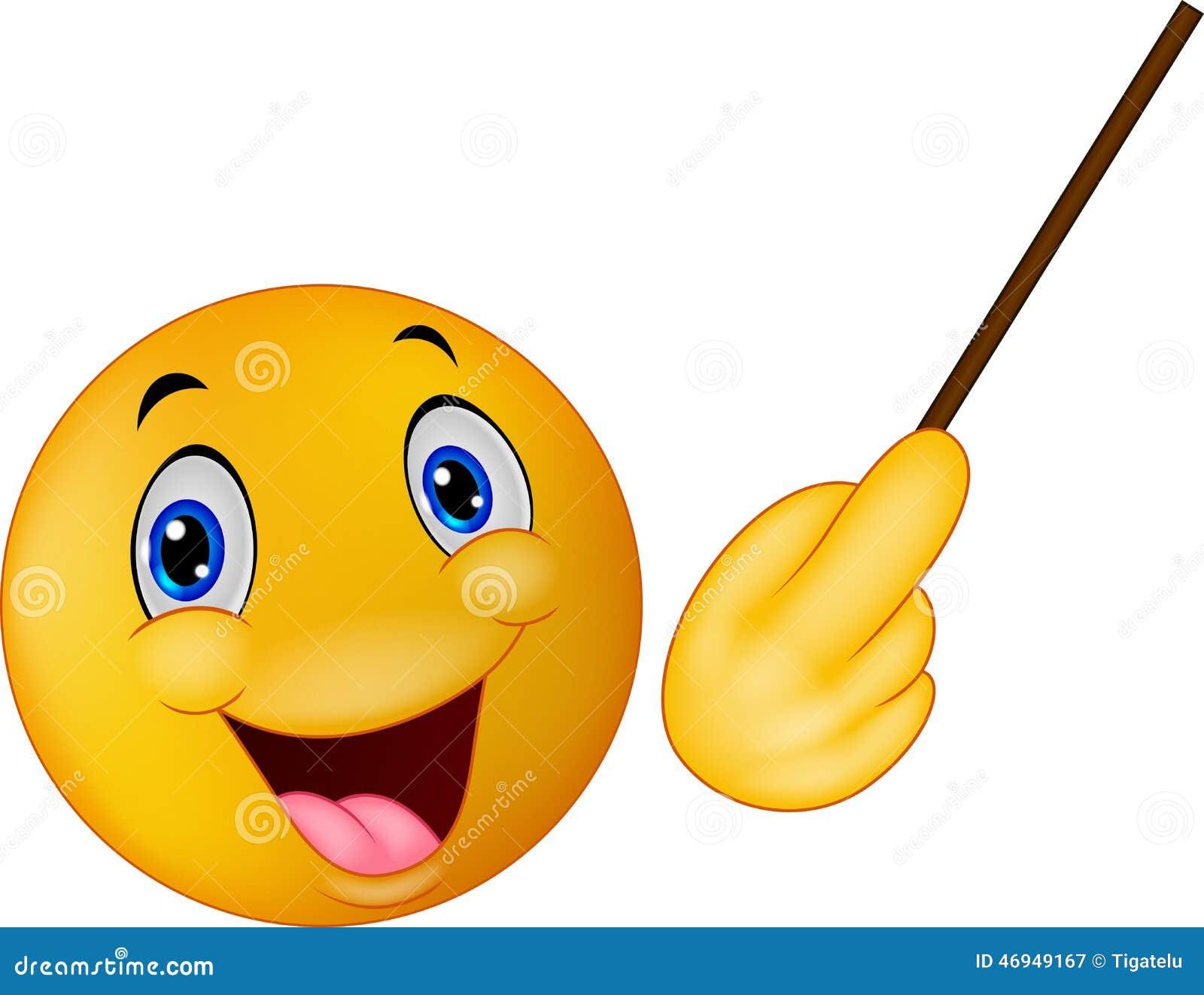 Emoticon Smiley Doing Presentation Stock Vector - Image: 46949167