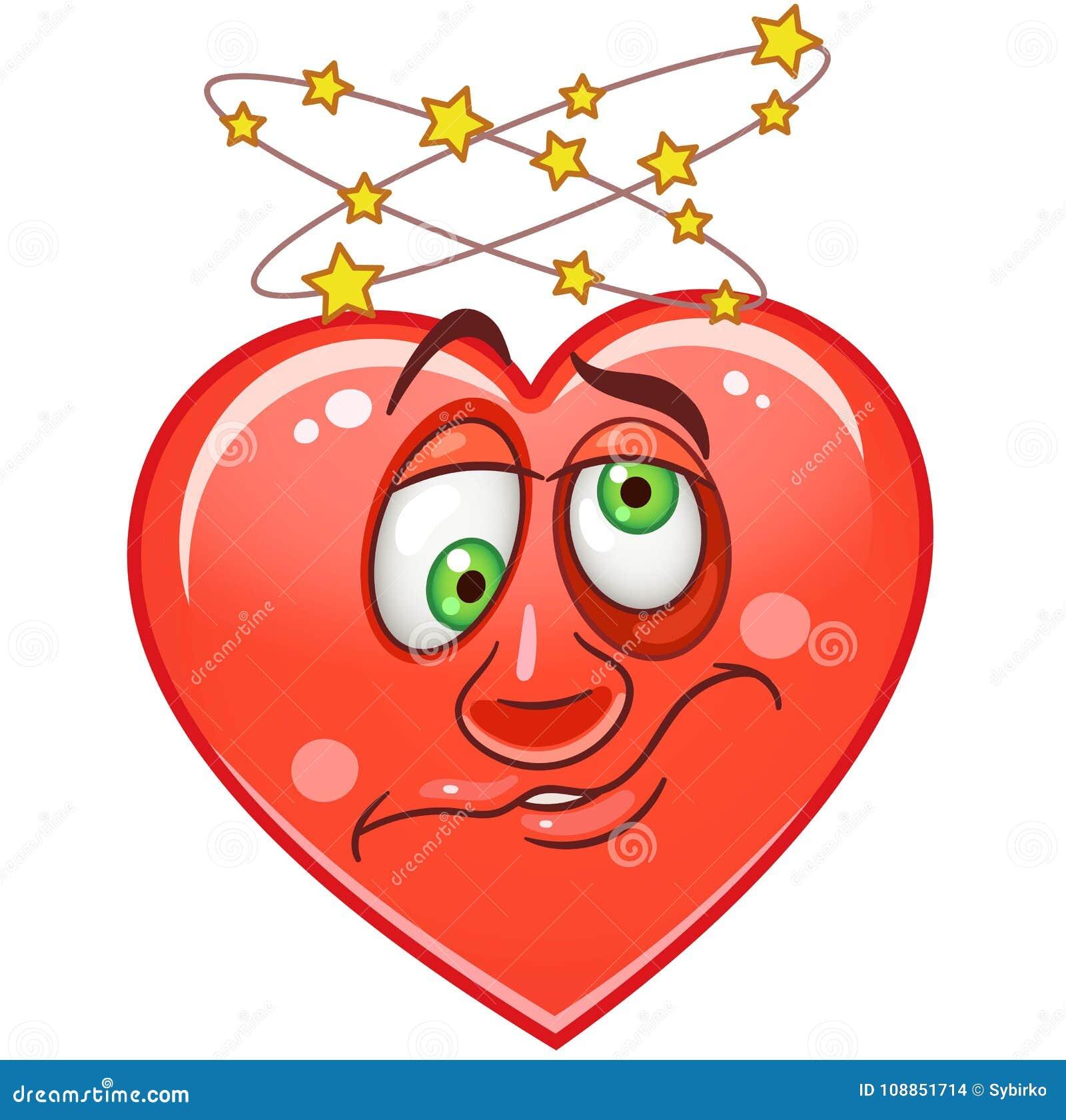 Emoticon Smiley Emoji Del Cuore Illustrazione Vettoriale