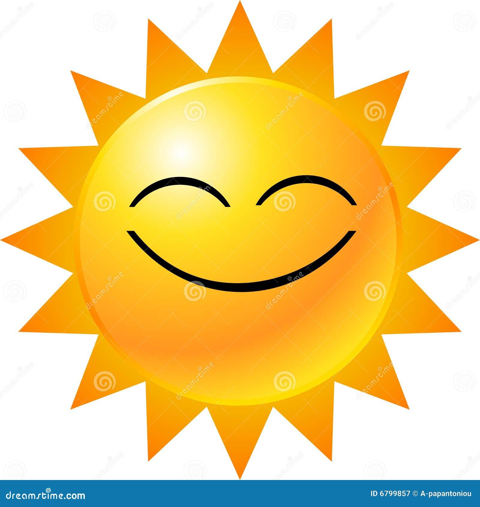 Smiley Sun Clip Art