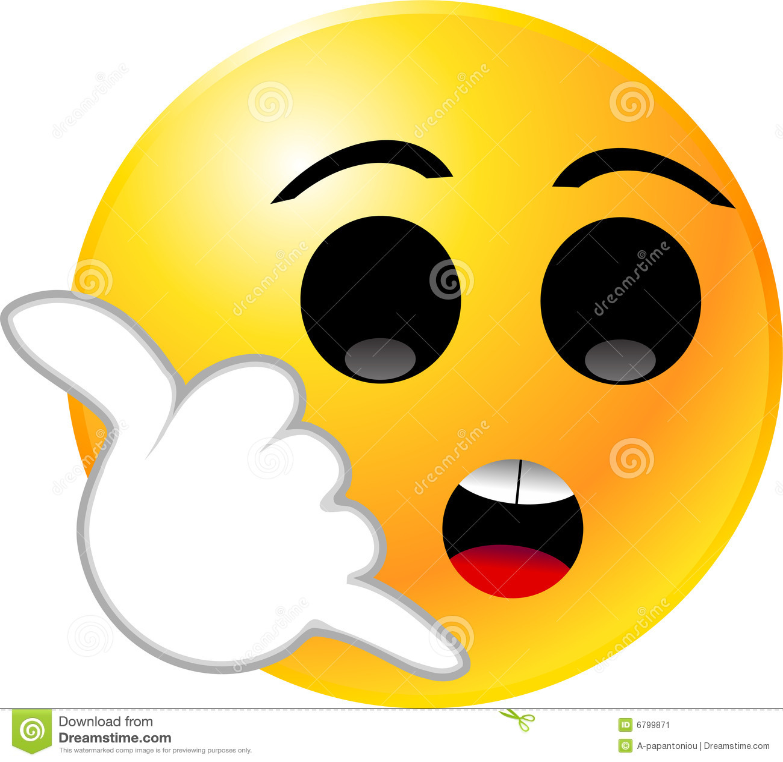 Vector clip art illustration of an emoticon smiley face icon.