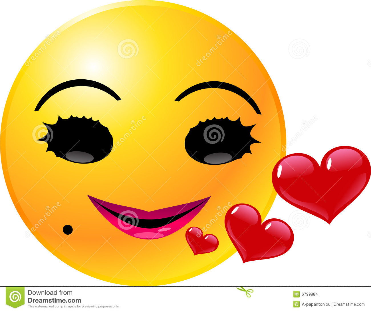 emoticon smiley face stock vector. illustration of love - 6799884