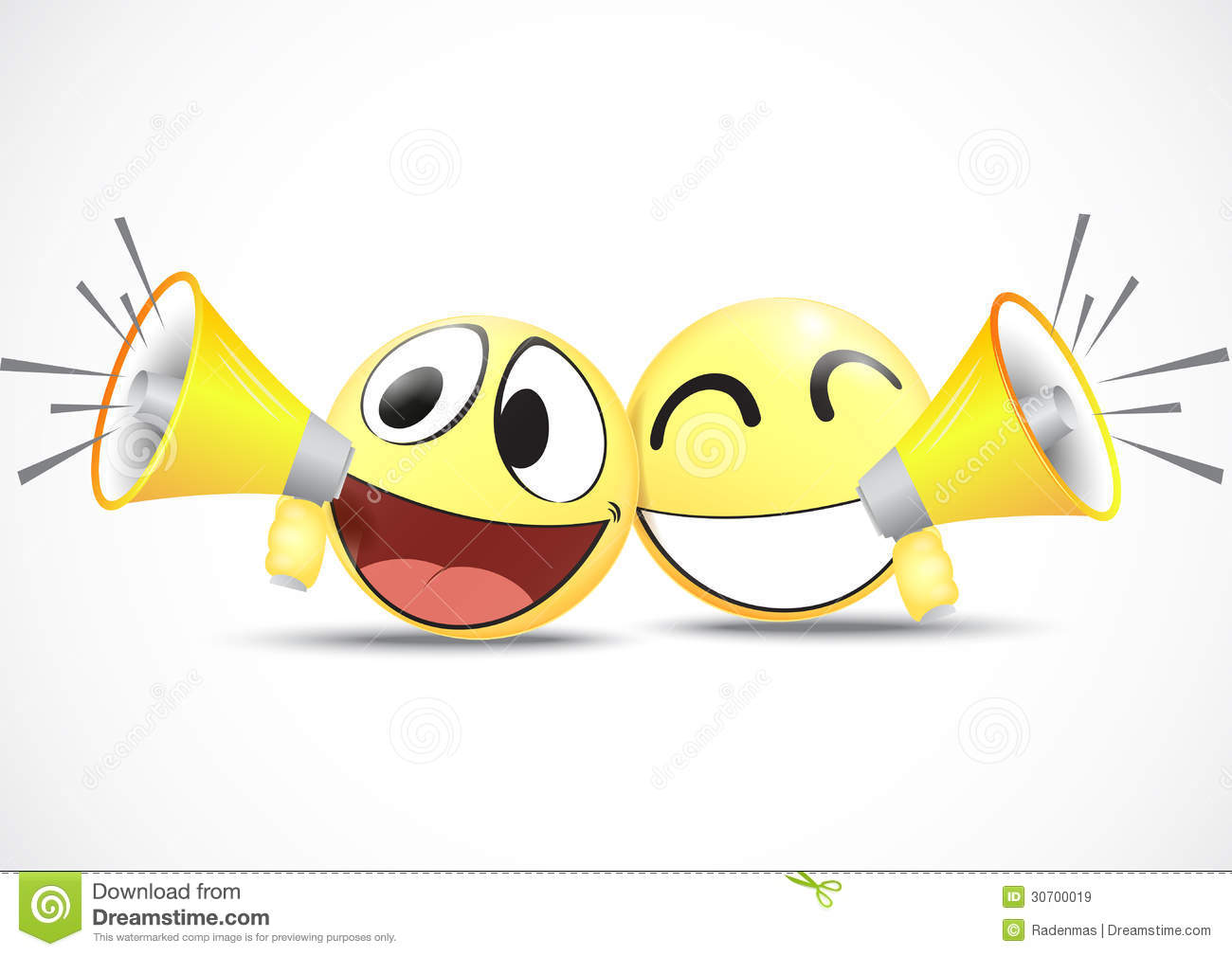 Emoticon With Speaker business Commerce Concept Royalty