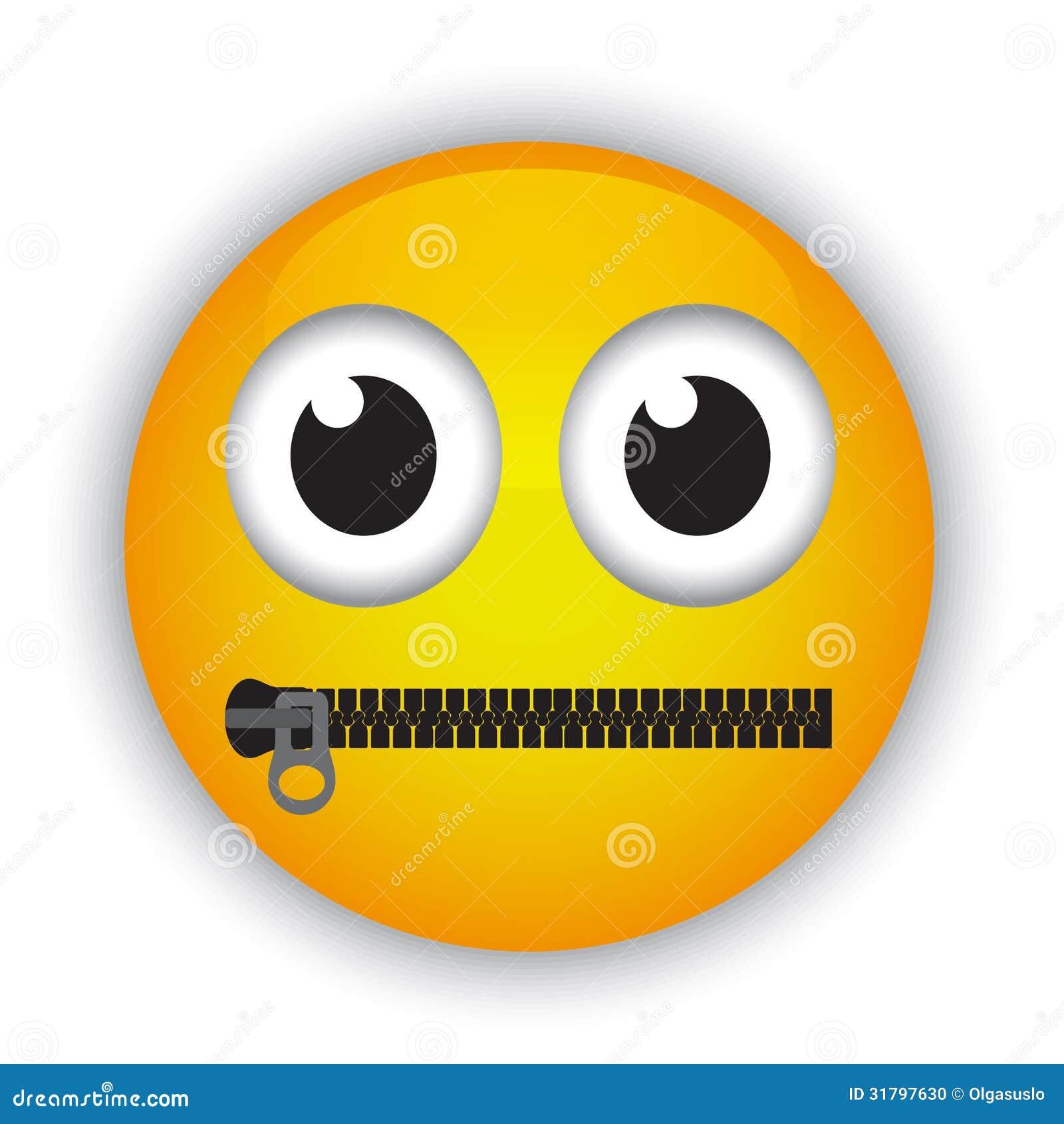 Emoticon z usta przymocowywał z suwaczkiem