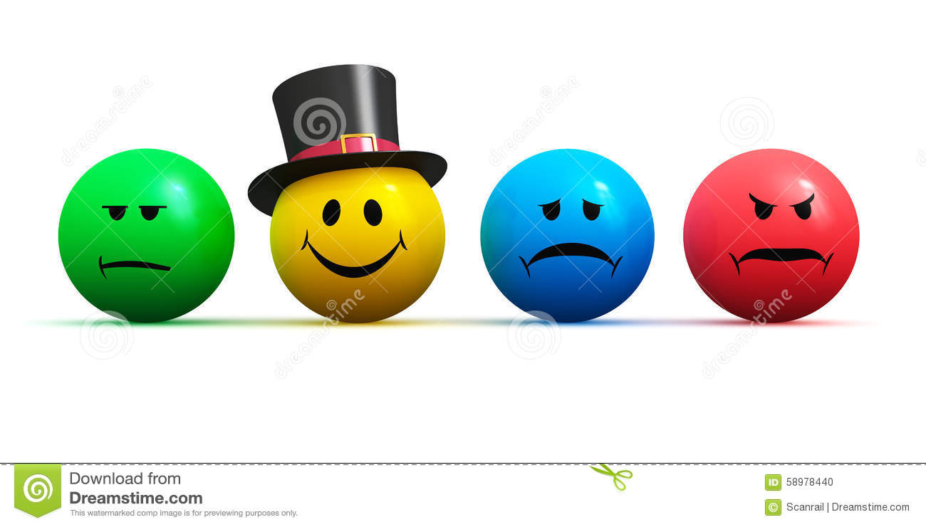 Royalty-Free Illustration. Download Emoticons With Four Different Moods ...