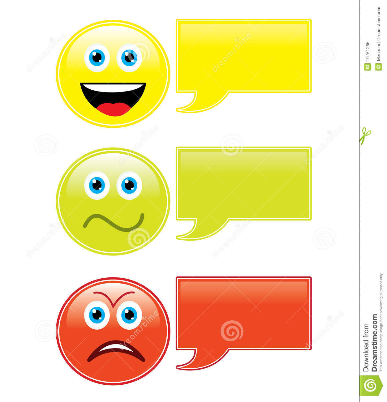 Emoticons with speech bubbles