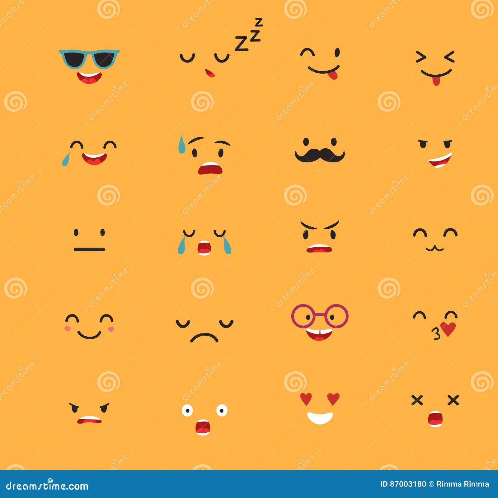 Emoticons wektoru szablon
