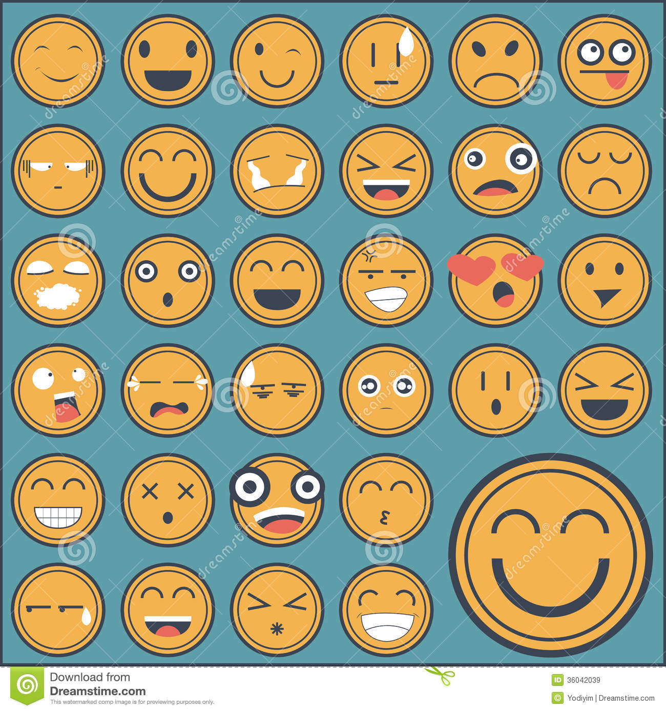 ... Face Sticker Collection Royalty Free Stock Images - Image: 36042039