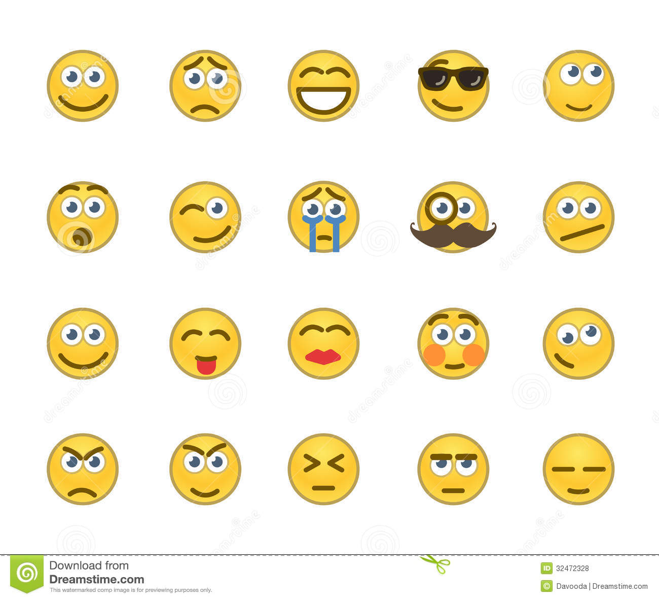 Smiley face behavior chart template