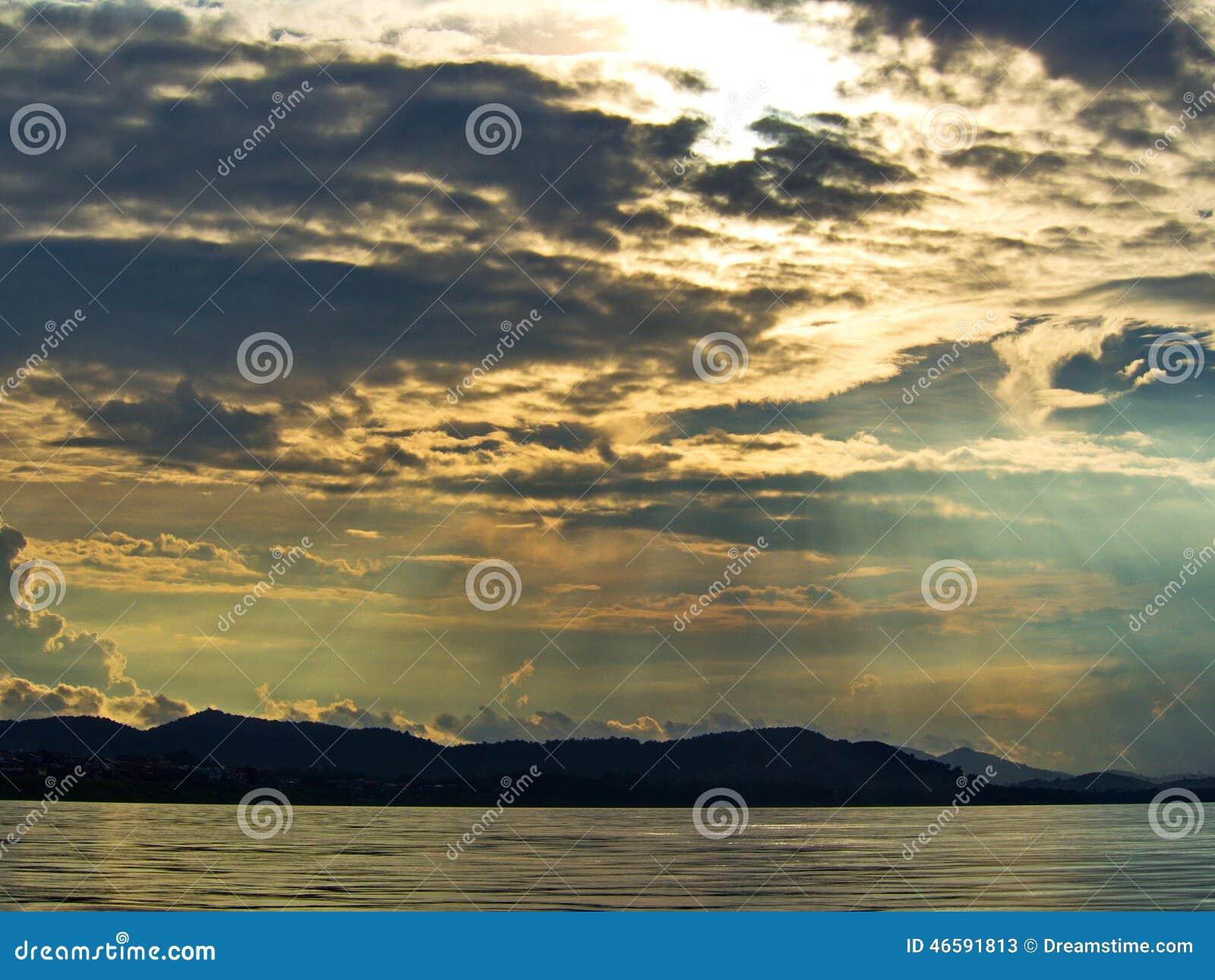 Emotion sky at river side