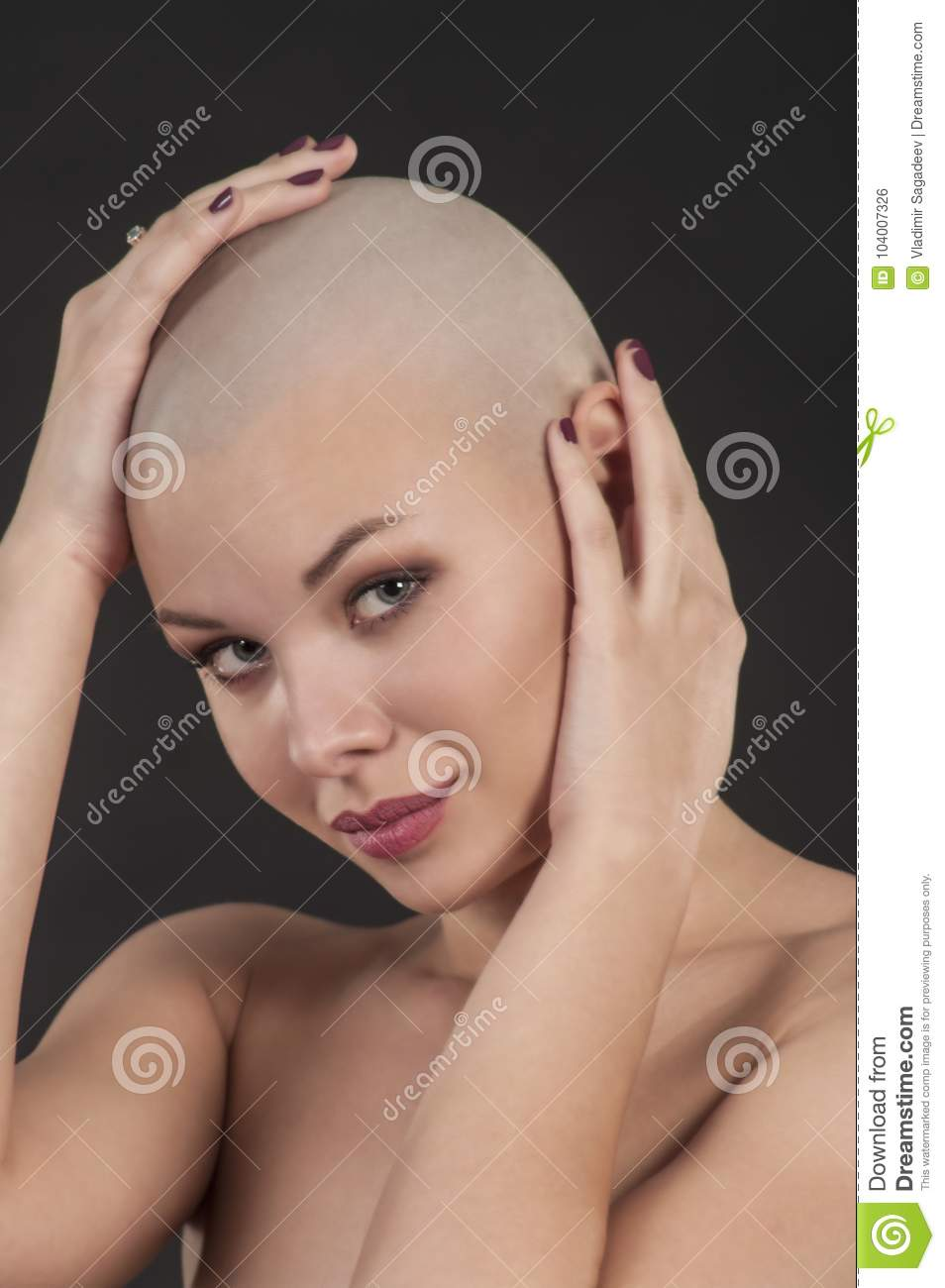Frowny face girl nude