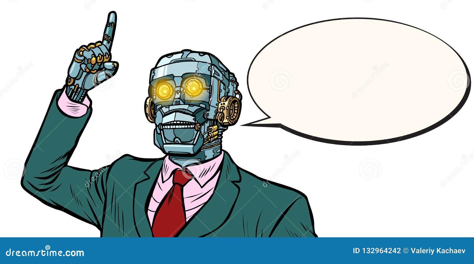 Emotionele sprekersrobot, dictatuur van gadgets Isoleer op whi
