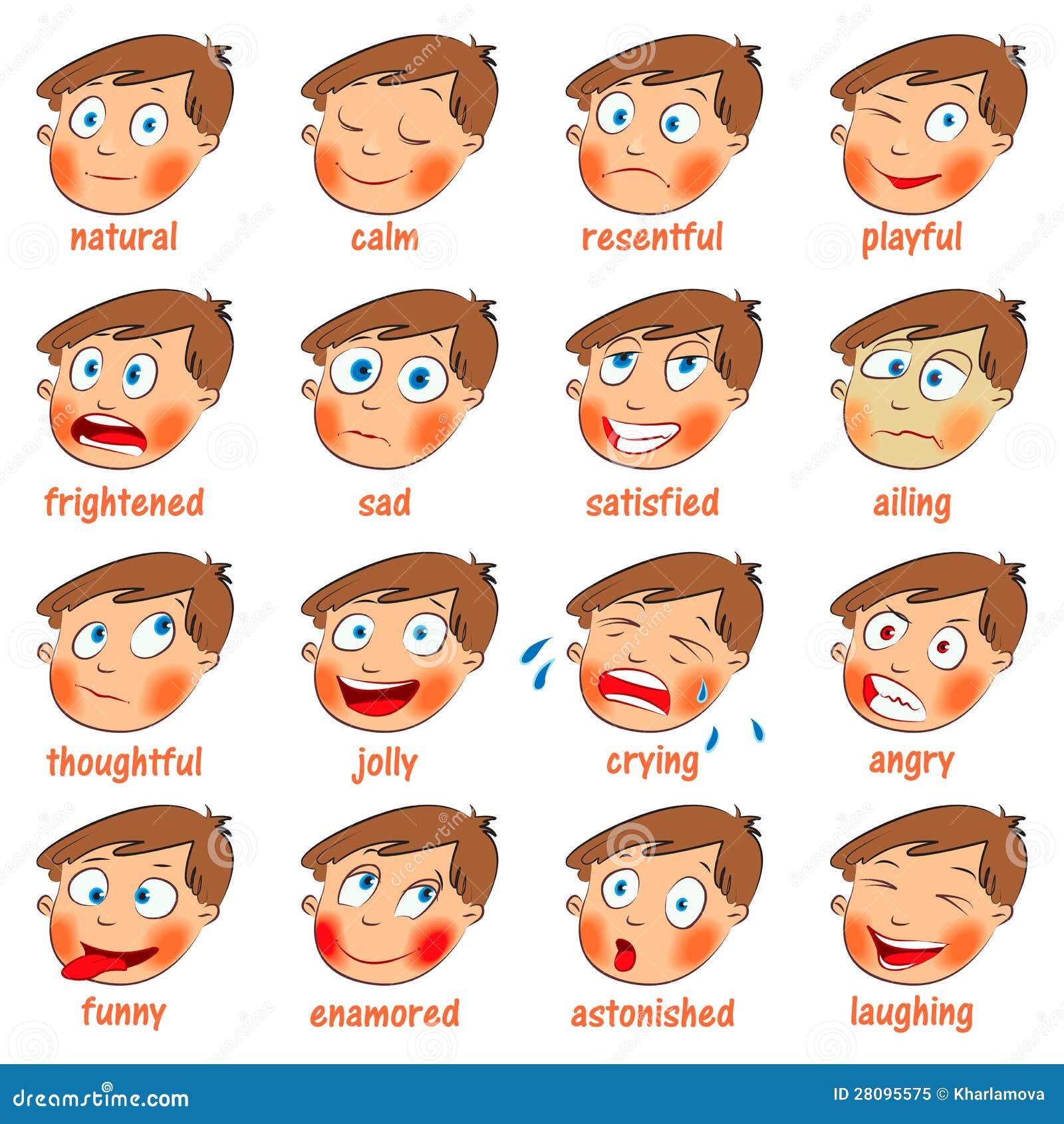 dibujos para colorear las emociones