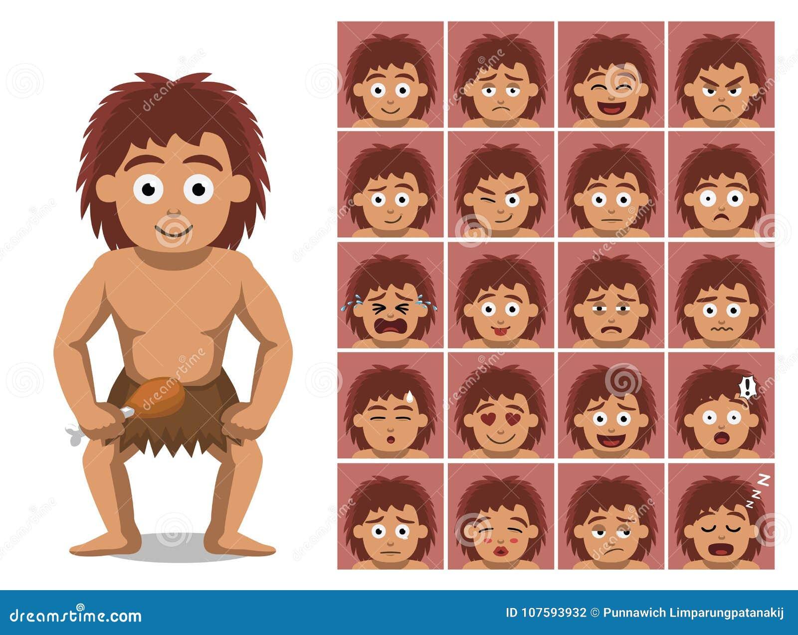 Emozioni del personaggio dei cartoni animati ragazzo