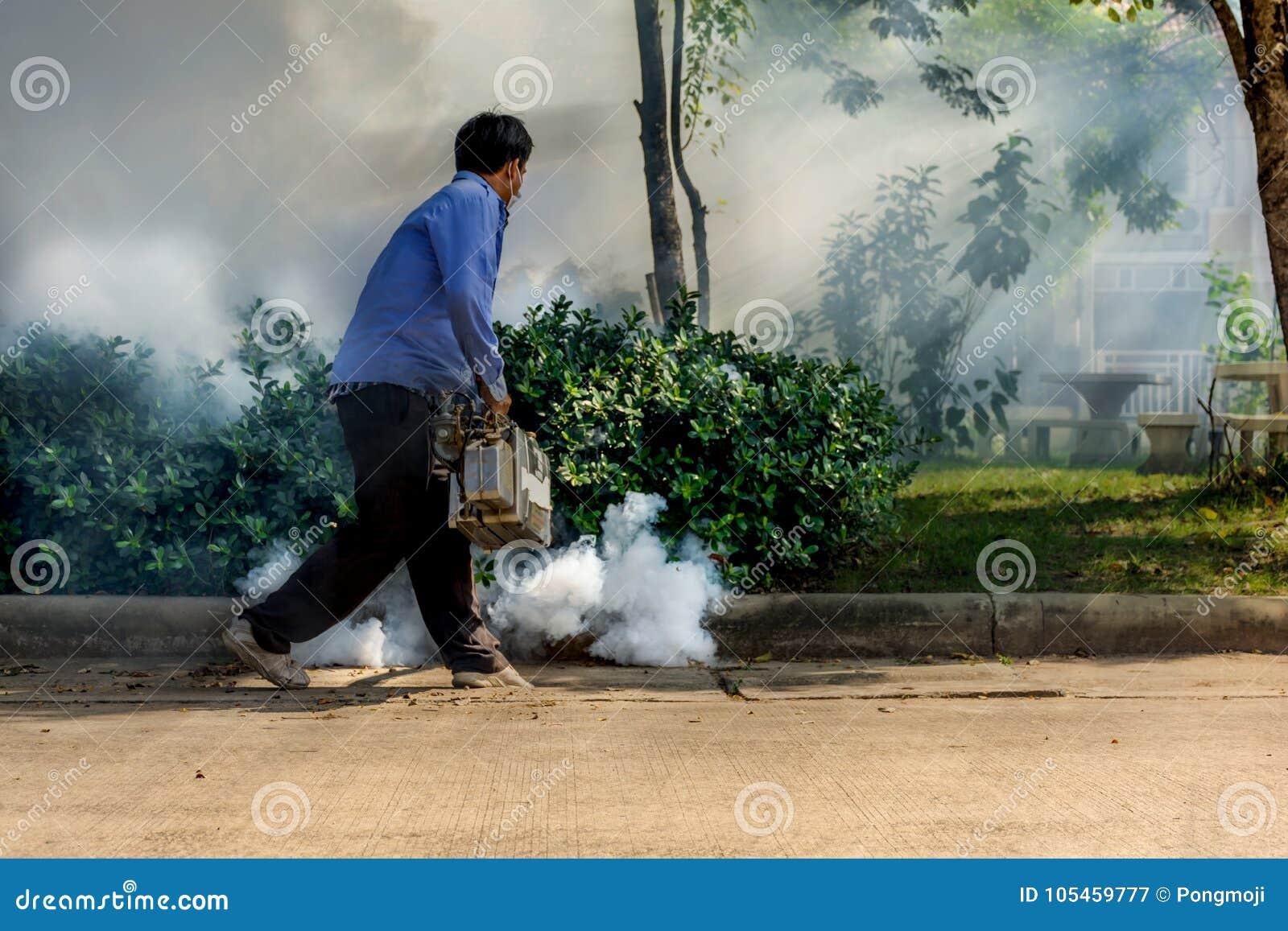 Empañando la matanza del mosquito del espray del DDT para el virus proteja