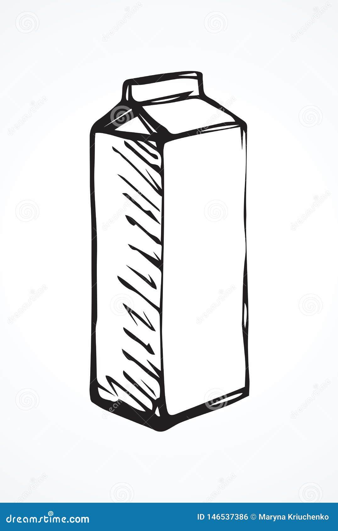 Empacotamento De Leite Da Caixa Desenho Do Vetor Ilustracao Do