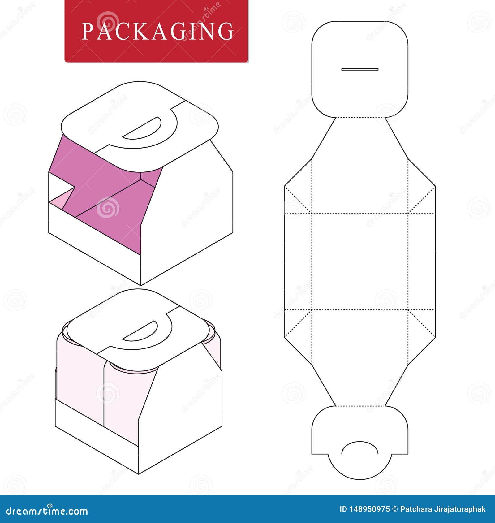 Empacotamento para a garrafa da lata Zombaria varejo branca isolada acima Ilustra??o do vetor da caixa